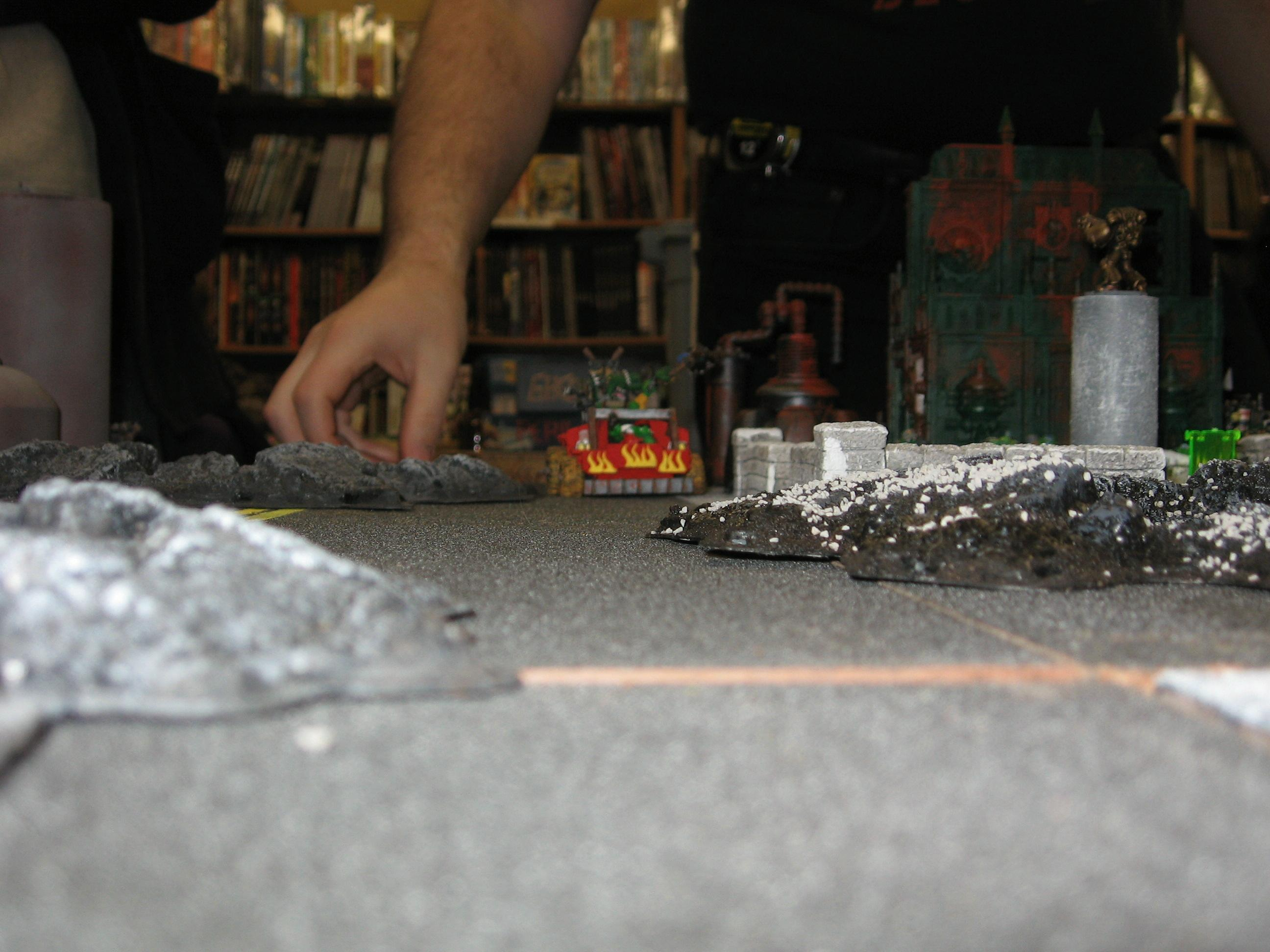 Model's Eye View of Trukk Driving Down Street