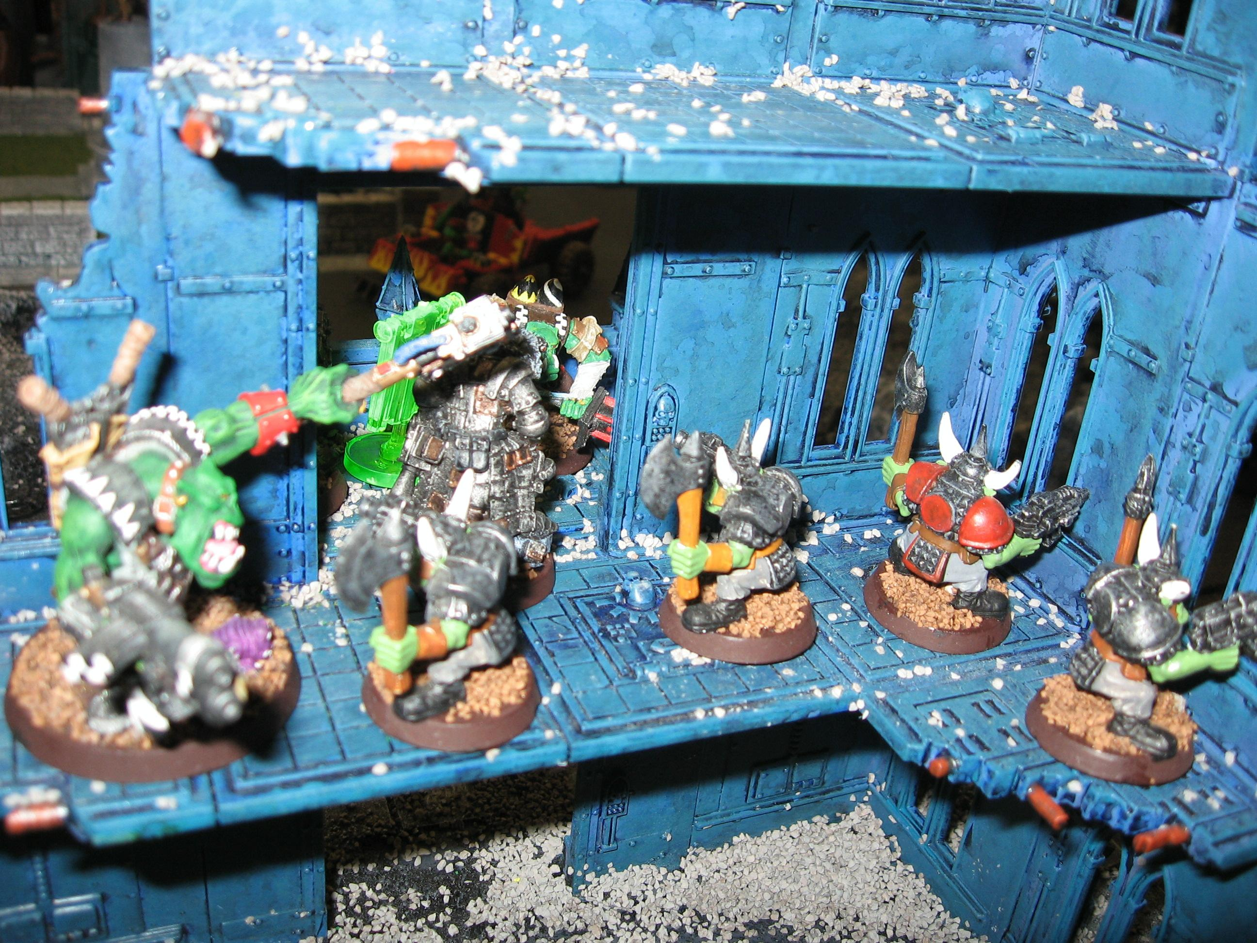 Orks Move into Ruined Building