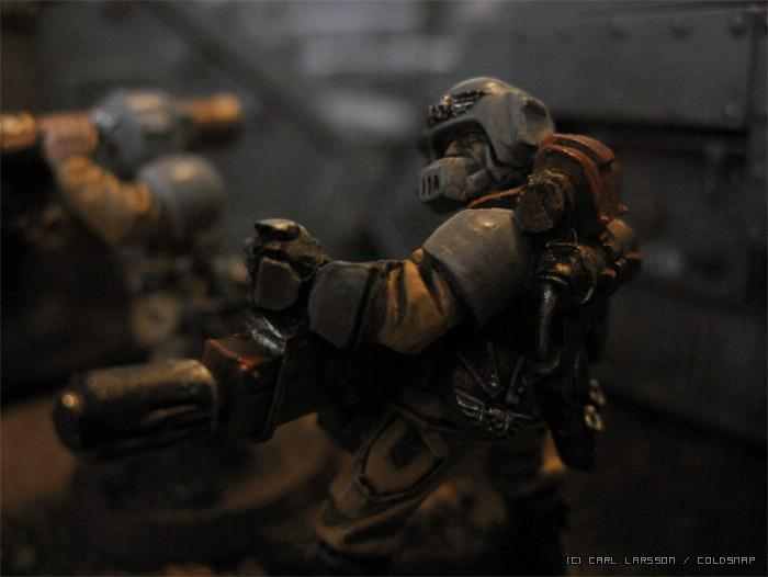 Cadians, Imperial Guard, Meltagun, Weathered