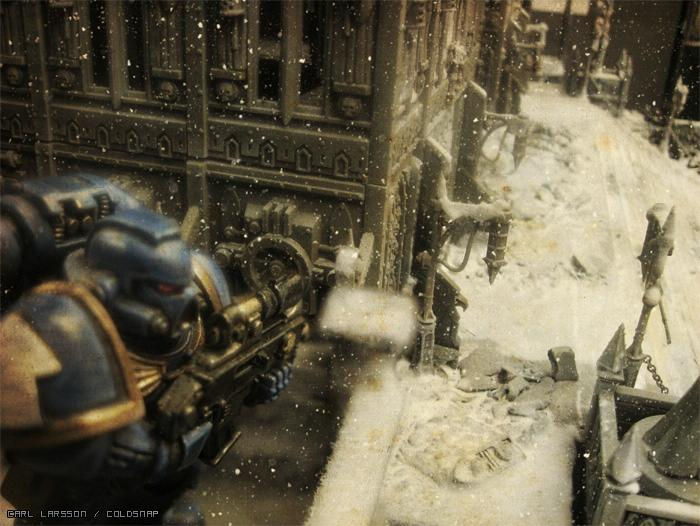 Awesome, Citys Of Death, Games Workshop, Photoshop, Snow, Space Marines