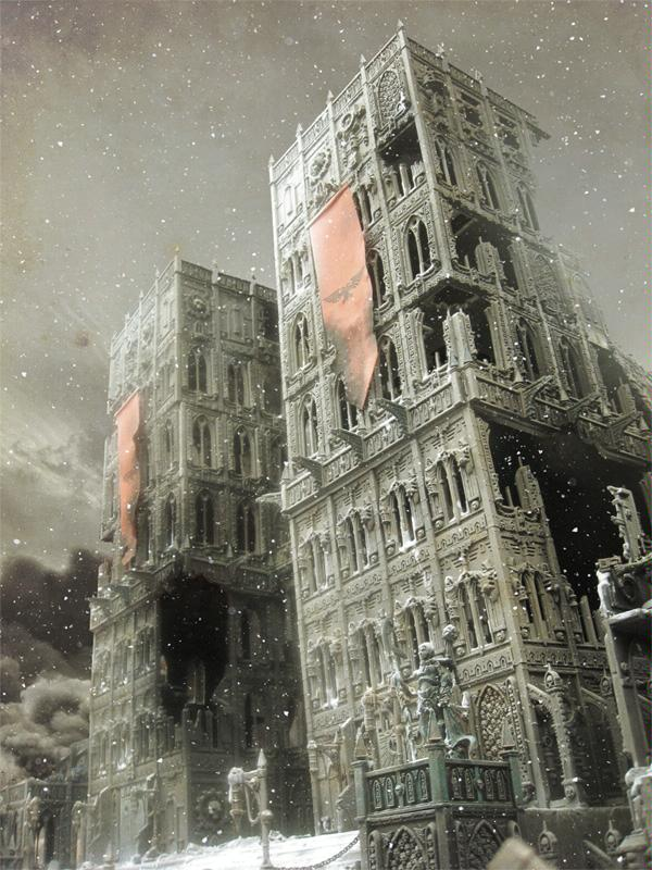 Awesome, Buildings, Cities Of Death, Huge, Photoshop, Snow, Terrain