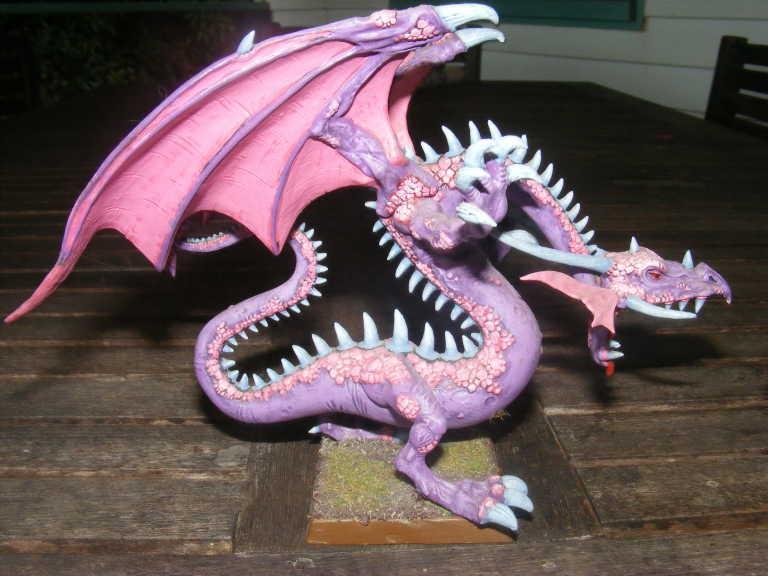 Dragon, Pink, and the dragon yay
