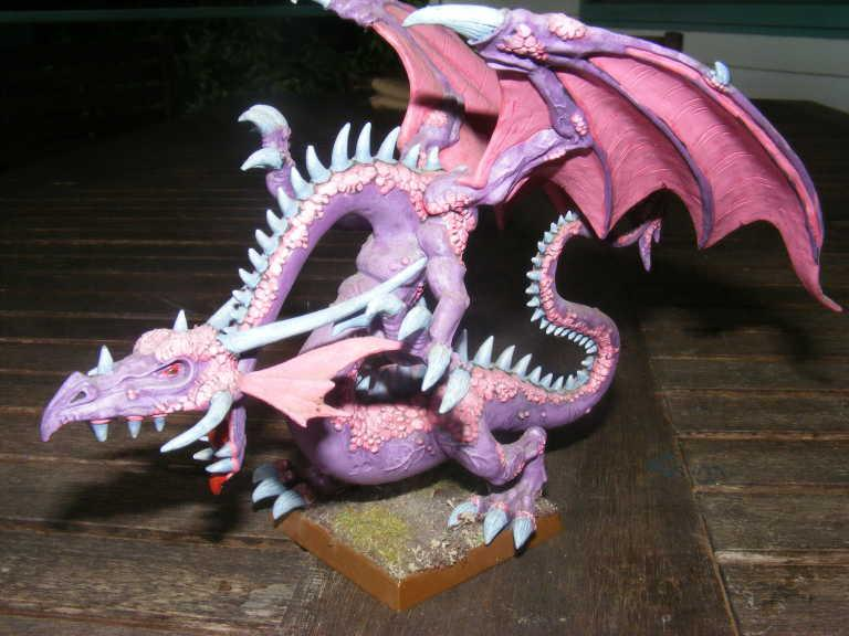 Chaos, Dragon, Pink, umm my dragon i picked him up from a garage sail a few years ago (already painted) and he was like $12 au so im going to use him as a chaos dragon maybe