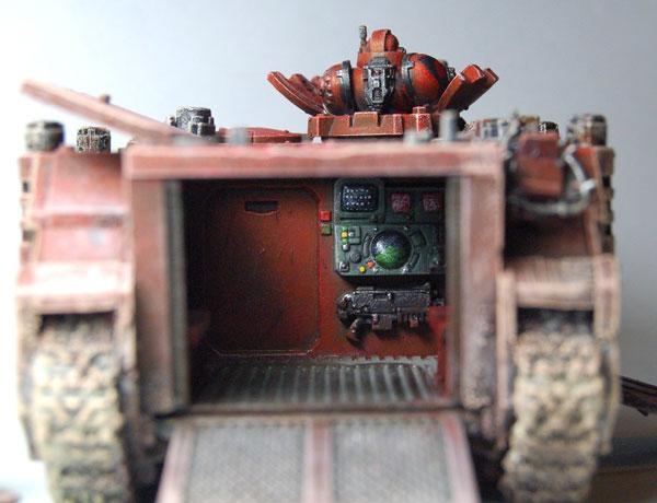 Conversion, Interior, Rhino, Space Marines, Warhammer 40,000