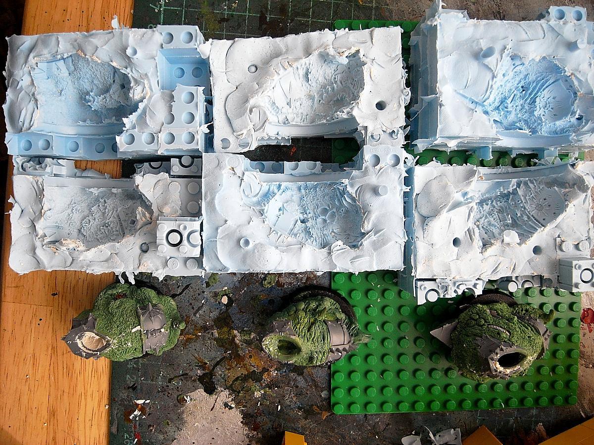 Nurgle, Obliterators, Resin, Work In Progress