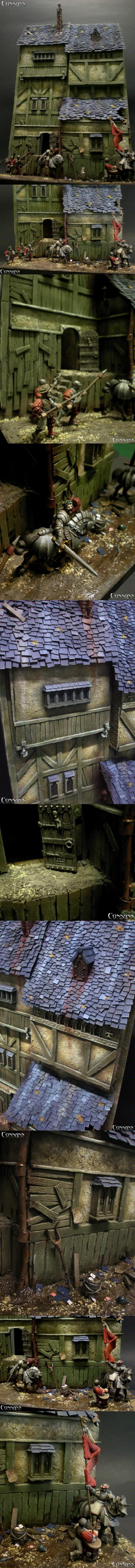 28mm, Diorama, Empire, Ogres, Veteran, Warhammer Fantasy