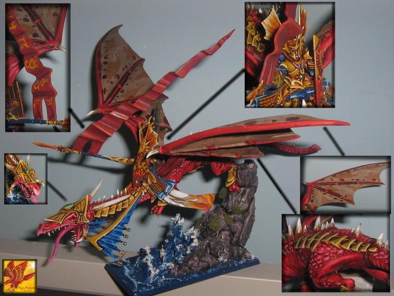 Dragon, Hero, High Elves, Monster, Warhammer Fantasy