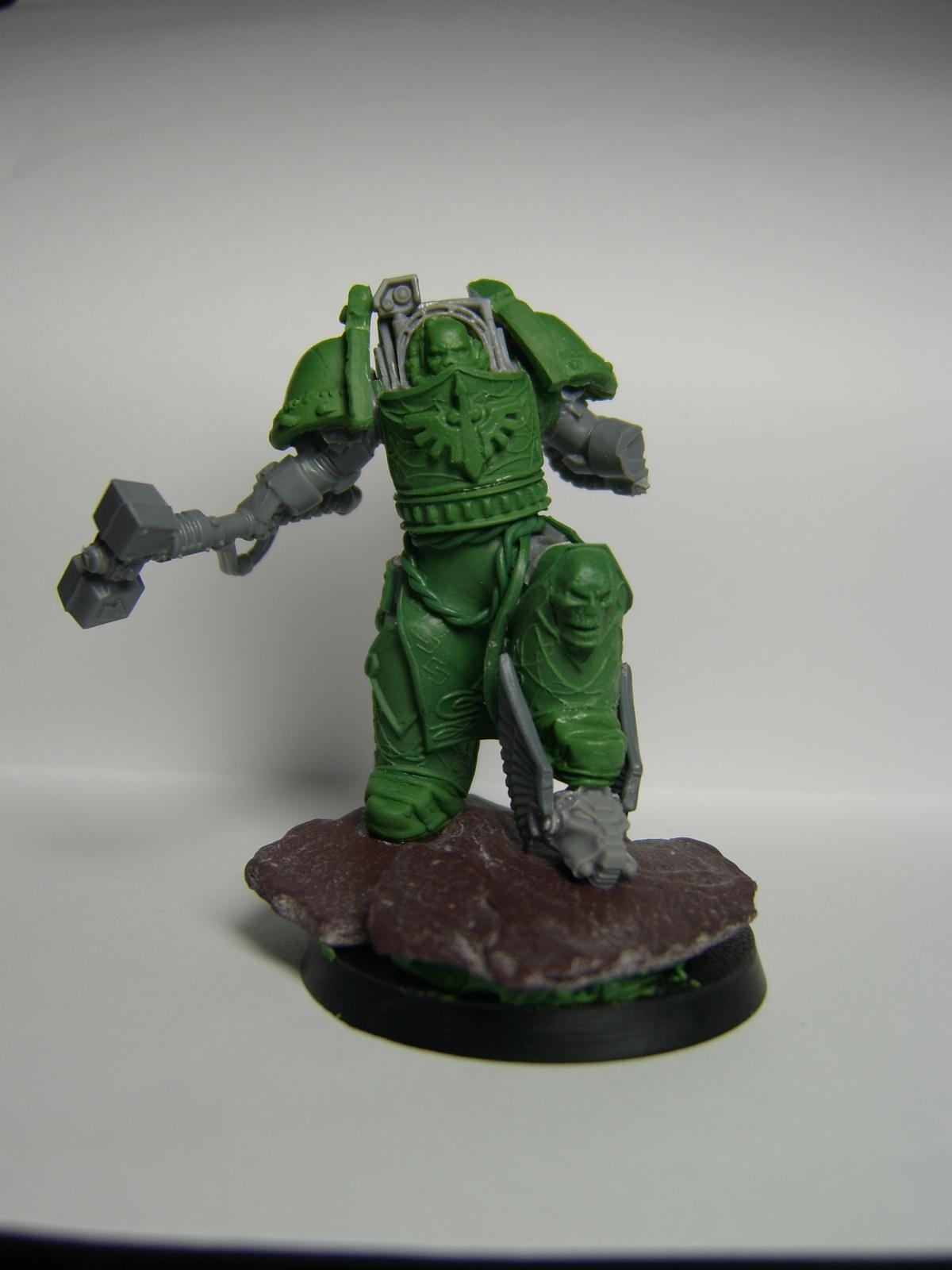 Dark Angels, Deathwing, Greenstuff, Space Marines, Terminator Armor