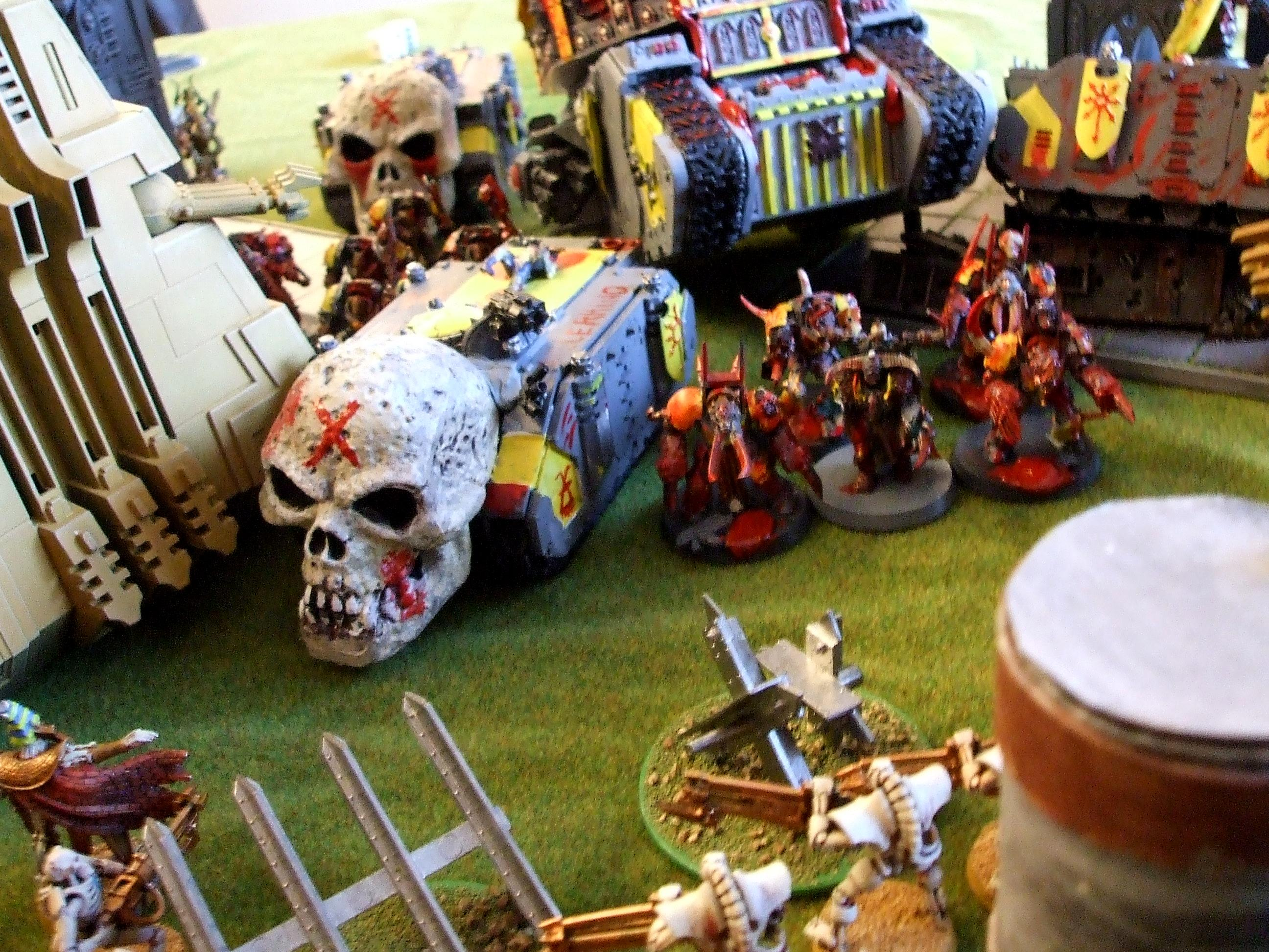 Berserkers, Chaos Space Marines, Khorne, Skull