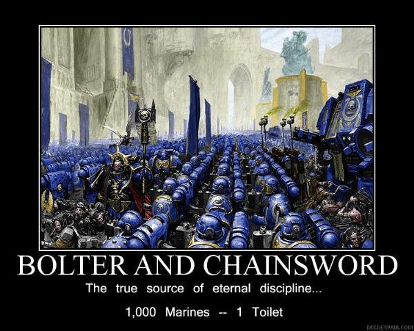 Bolter And Chainsword, Poster, Space Marines, Ultramarines