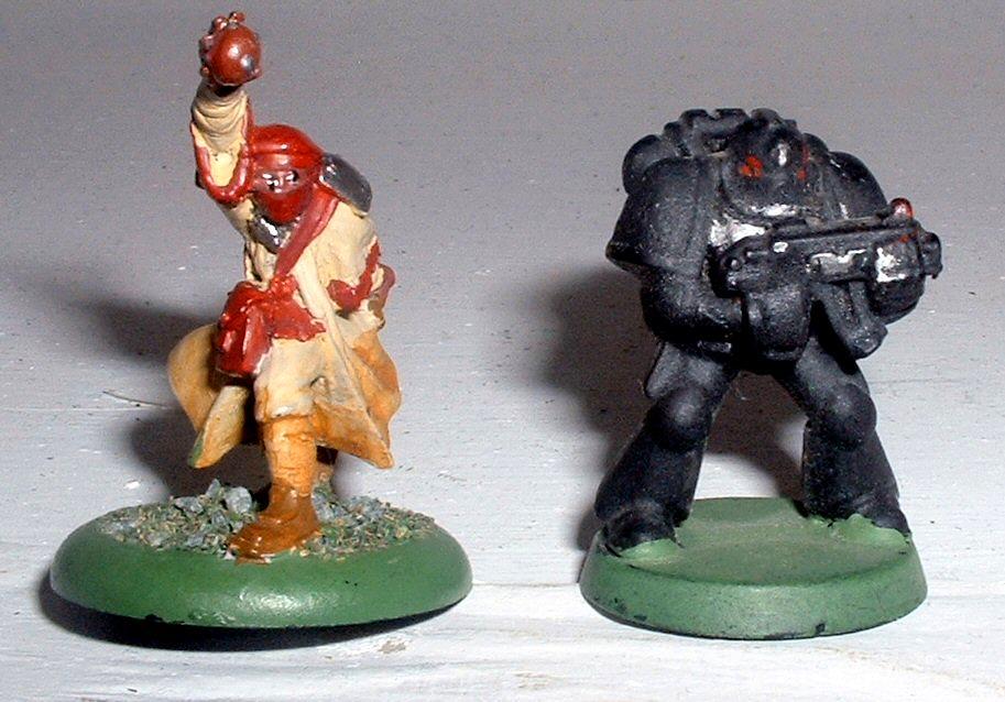 Privateer Press, Protectorate Of Menoth, Scale, Space Marines, Zealots