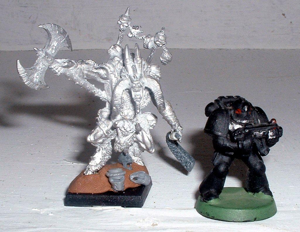 Avatars Of War, Beastlord, Beastmen, Scale, Space Marines