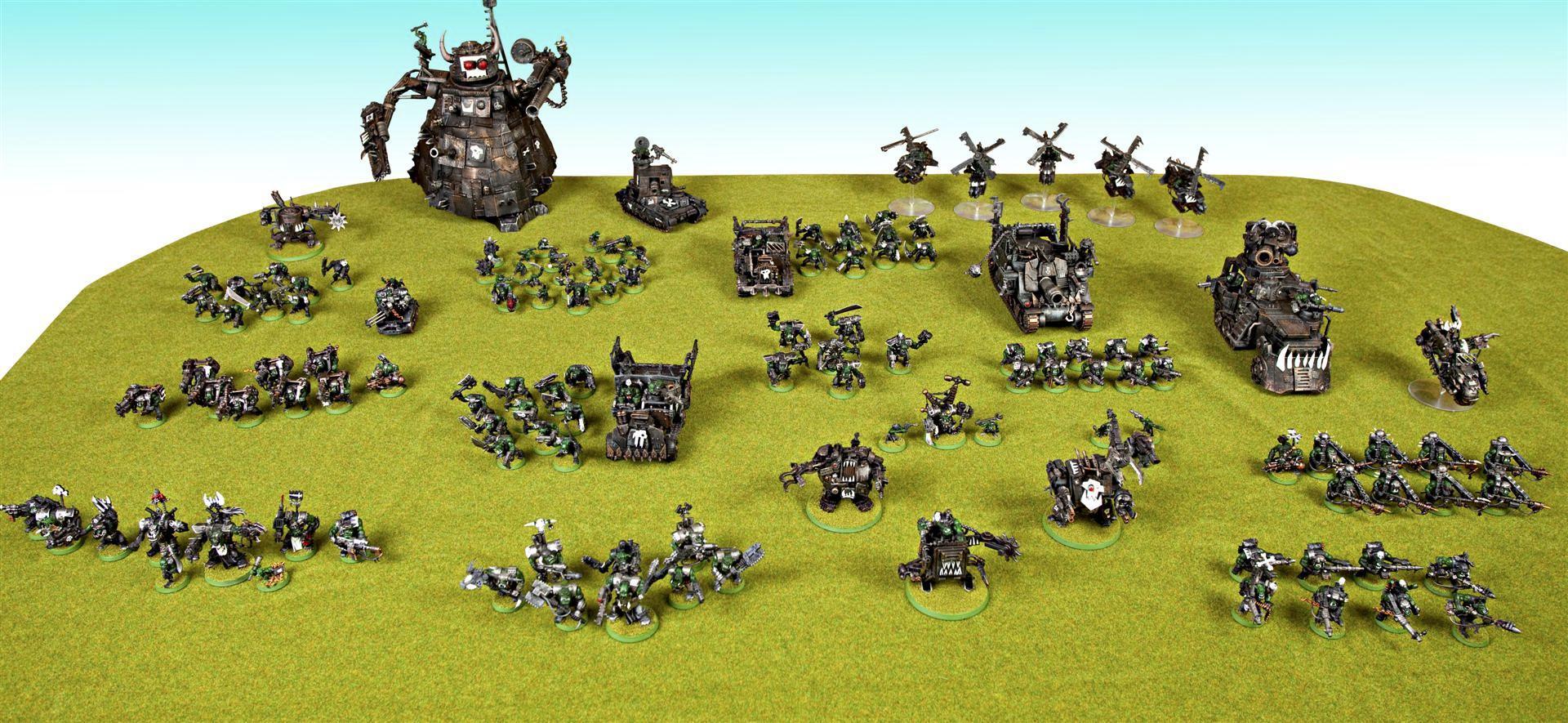 Army, Battlewagon, Big Mek, Burnas, Deff Dread, Killa Kan, Nob, Orks, Stompa, Trukk, Trukks, Warboss, Warhammer 40,000