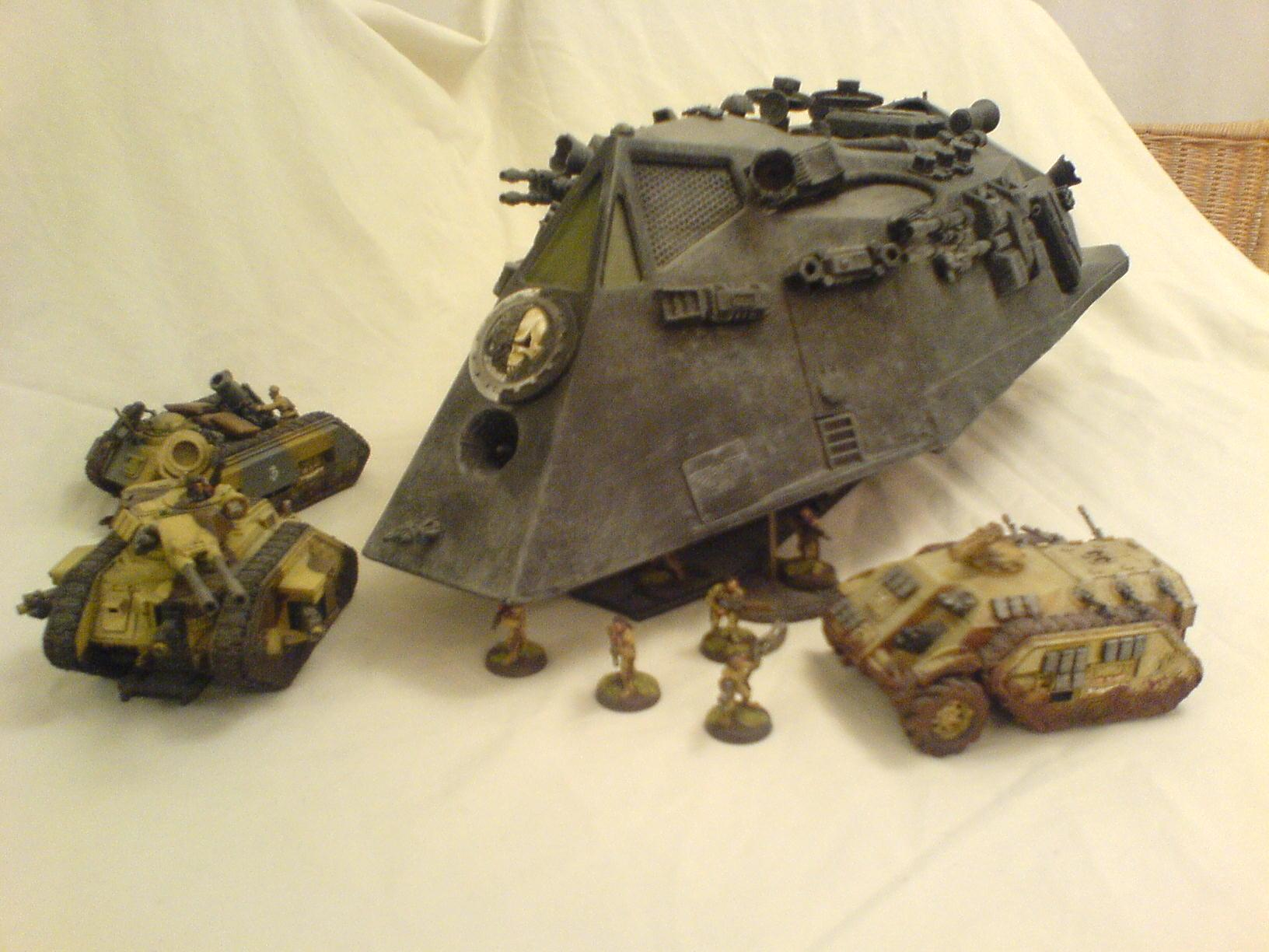 Chimera, Conversion, Drop Ship, F-117, Imperial Guard, Leman Russ, Toy, Warhammer 40,000