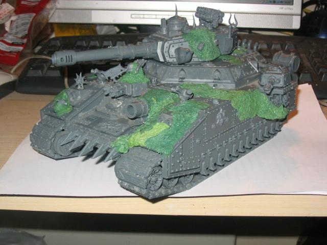 Baneblade, Chaos, Nurgle, Work In Progress
