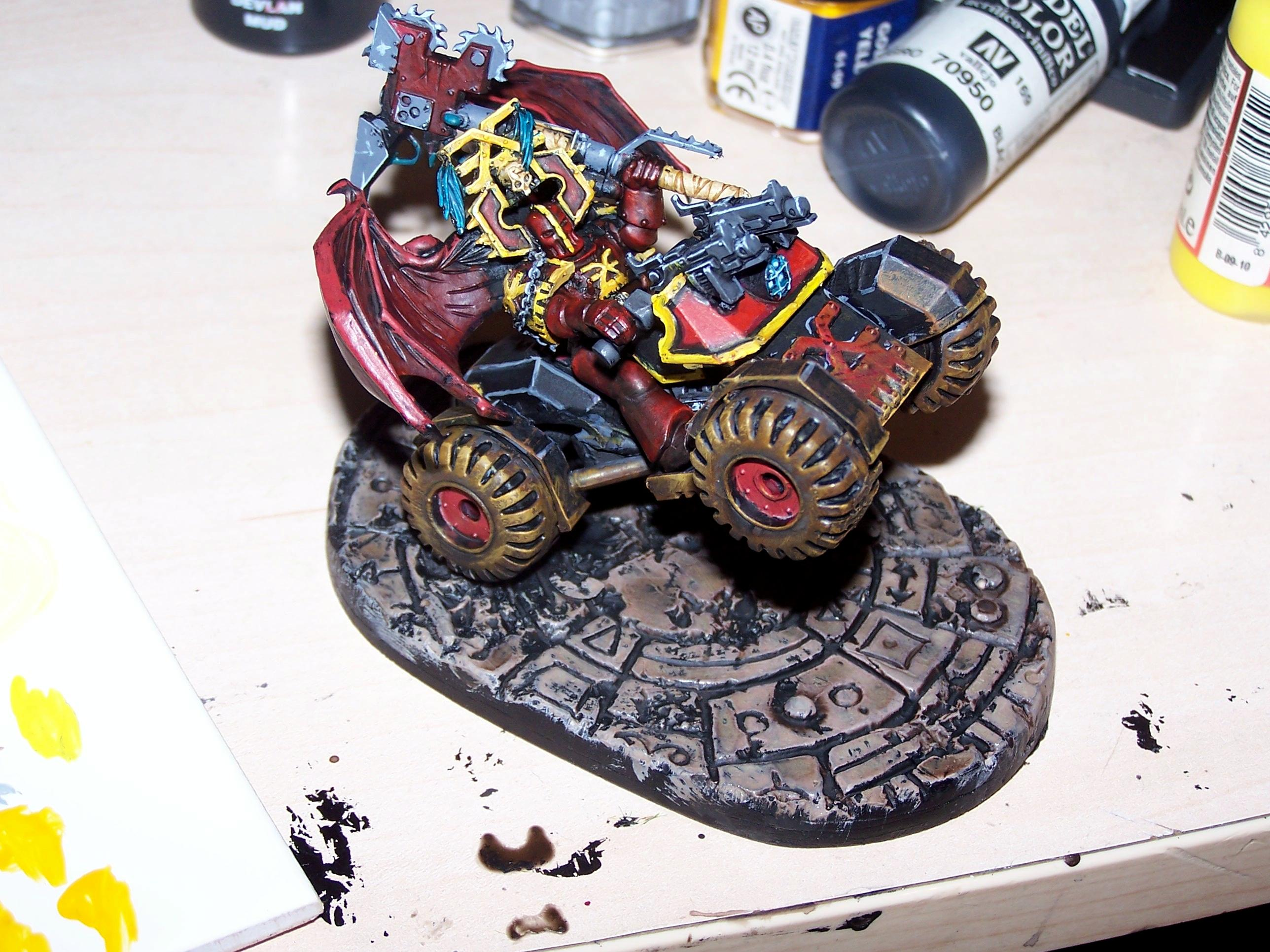 Bike, Chaos Lord, Chaos Space Marines, Khorne, World Eaters