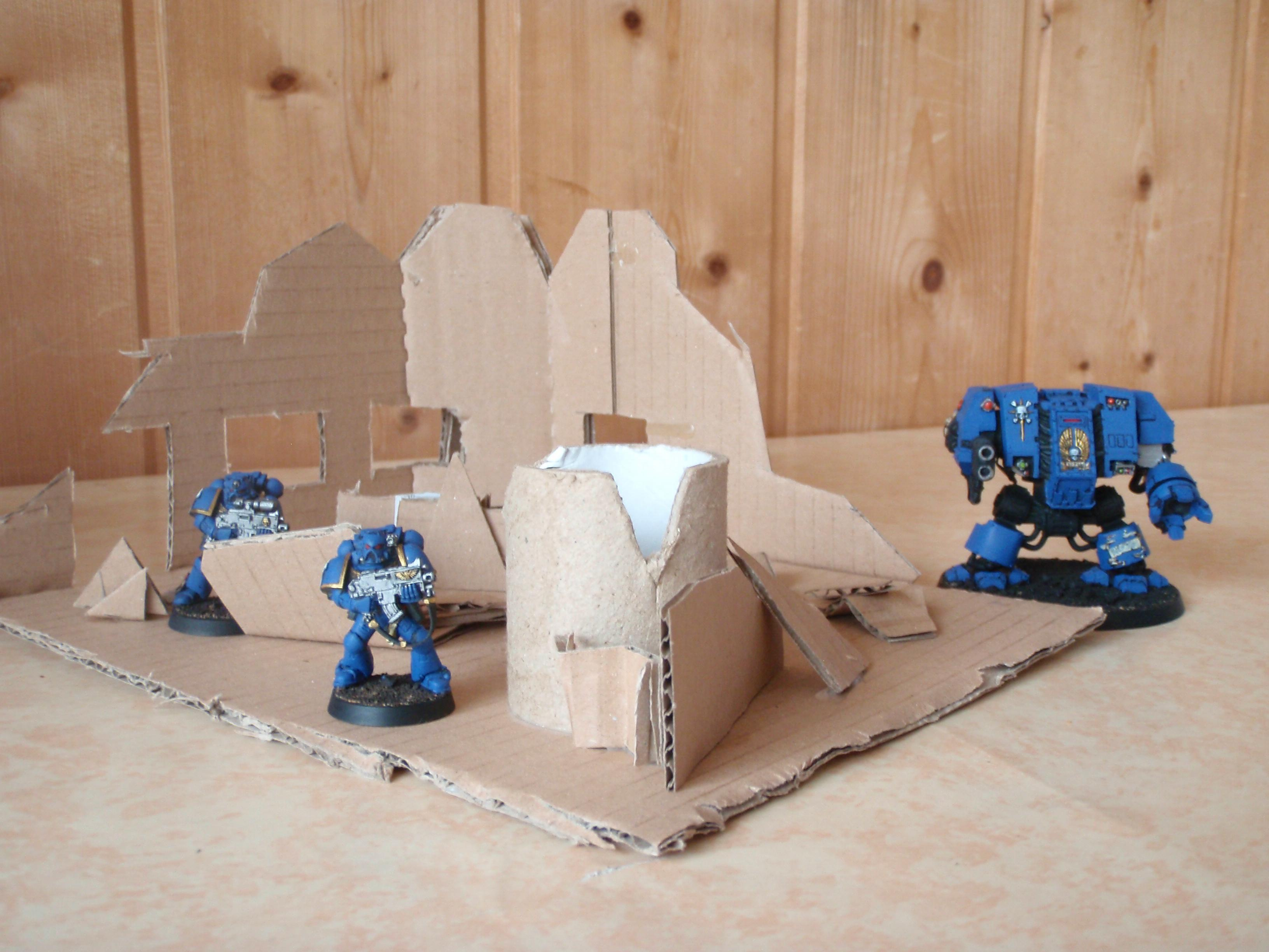Cardboard, Cities Of Death, Game Table, Ruin, Terrain