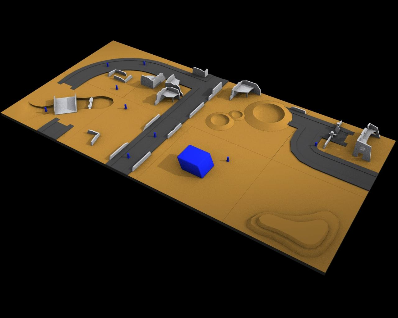 Computer Generated, Game Table, Map, Terrain