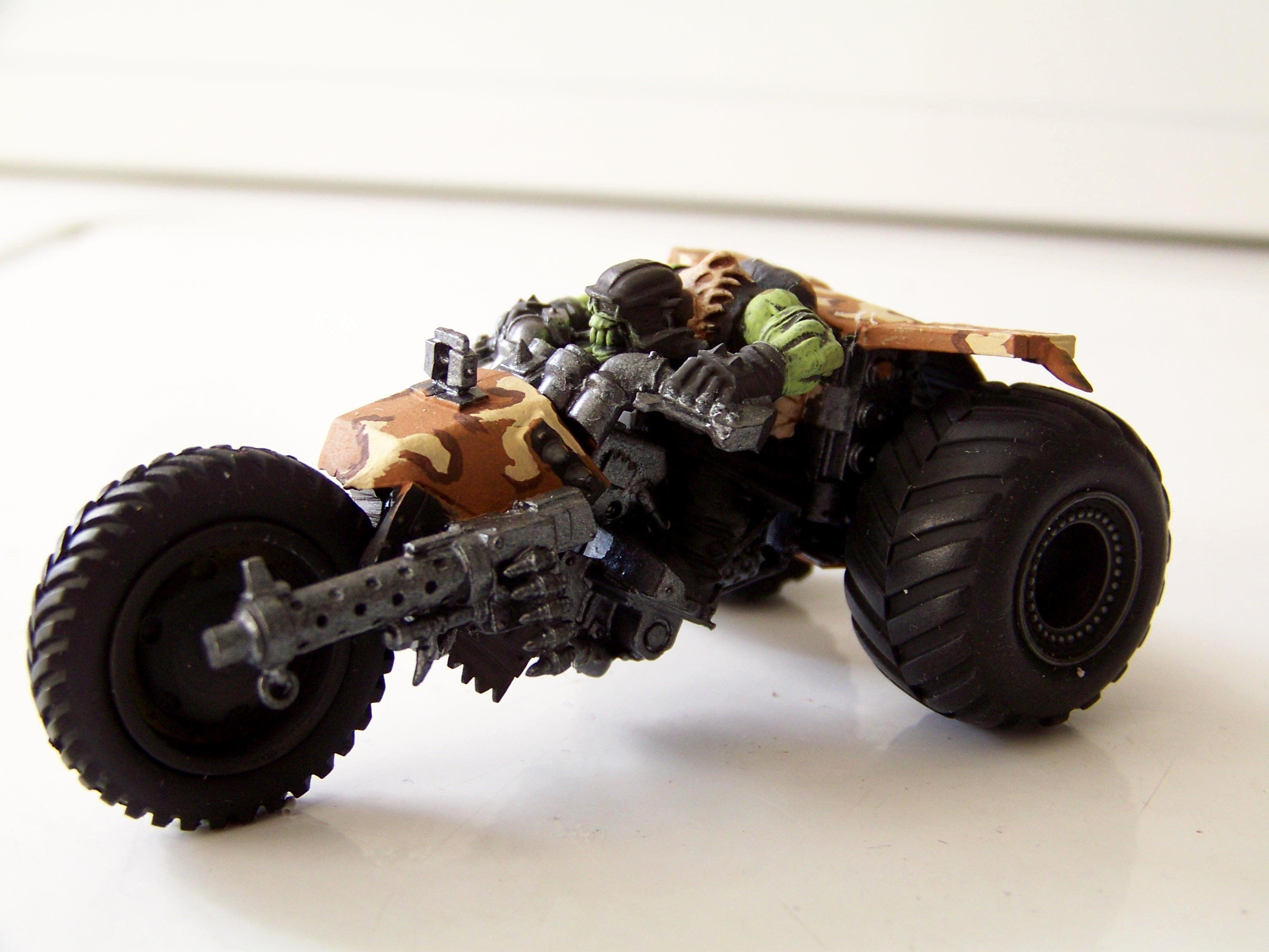 Nob Biker, Orks, Trike, War Biker, Warhammer 40,000