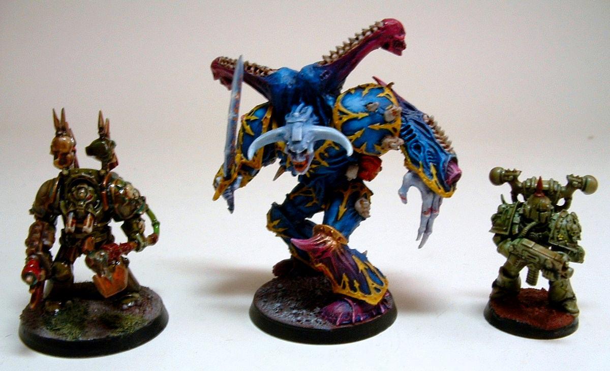 Chaos Space Marines, Daemon Prince, Nurgle Marine, Nurgle Terminator