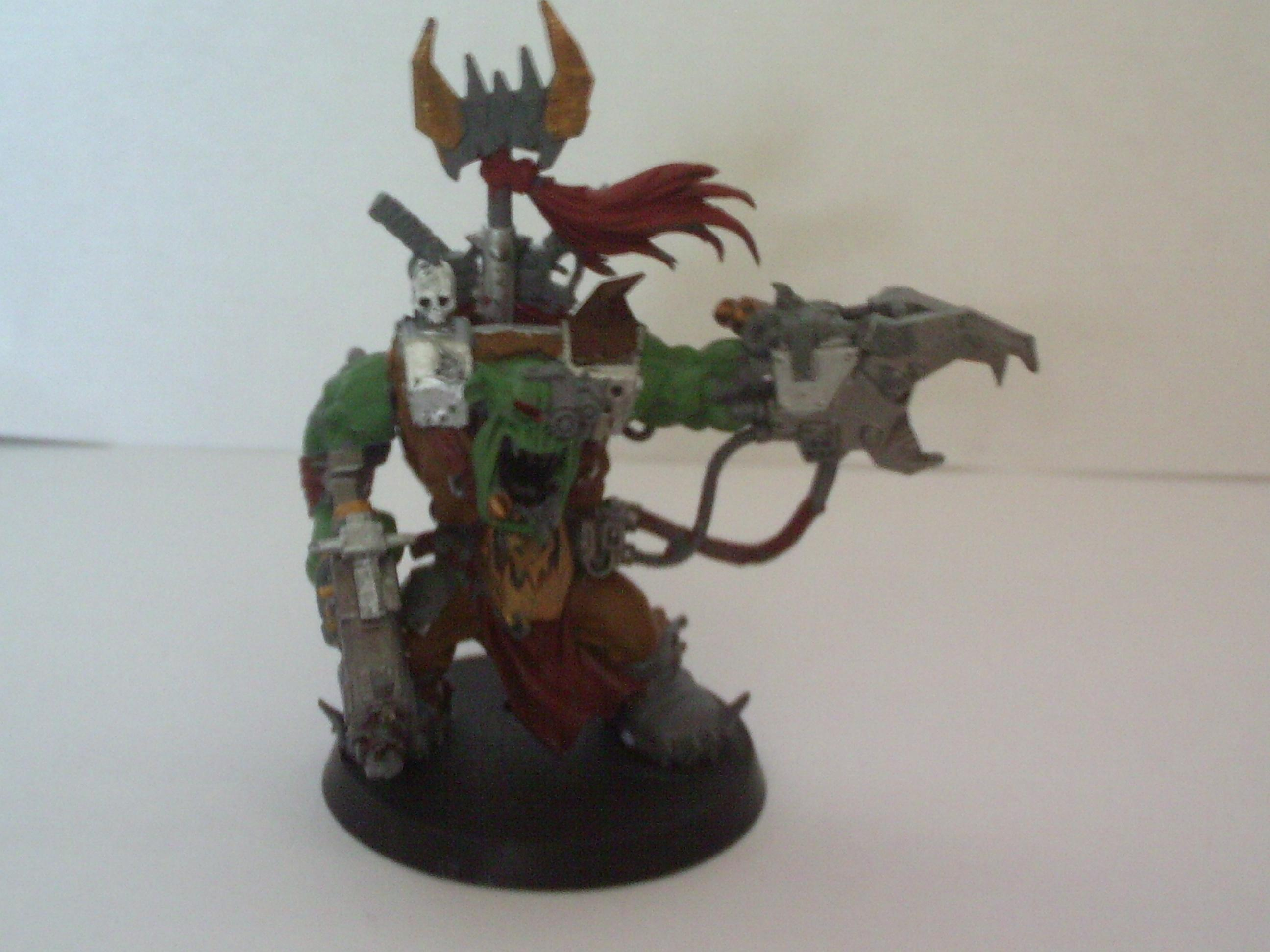 Orks, Warboss, Just for kingCracker this warboss is almost dun :P