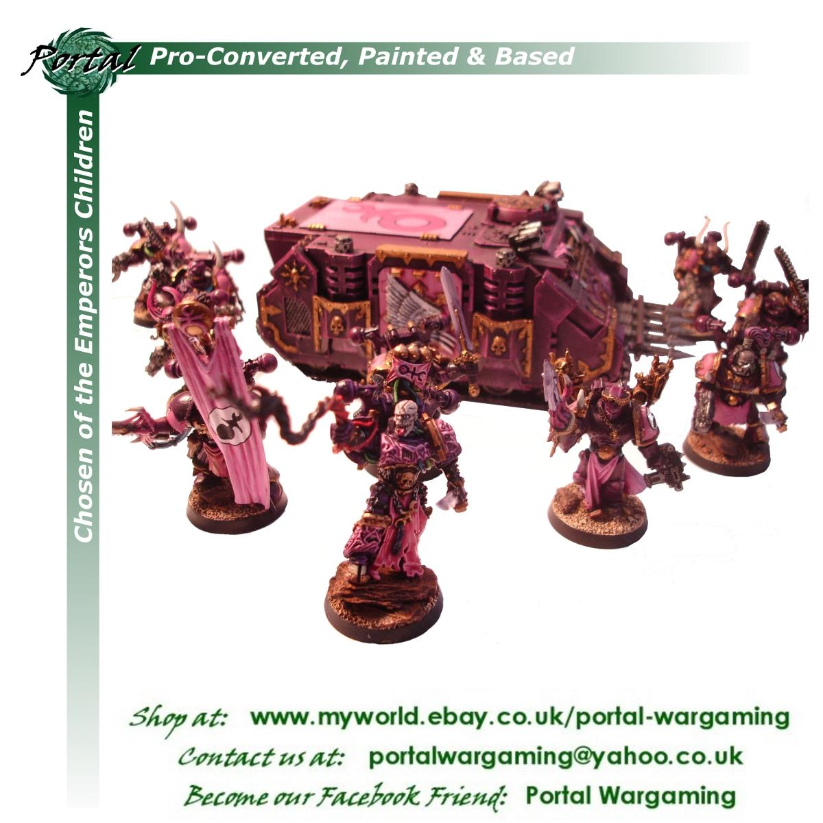 Chaos Space Marines, Emperor's Children, Pro-based, Pro-converted, Pro-painted, Warhammer 40,000