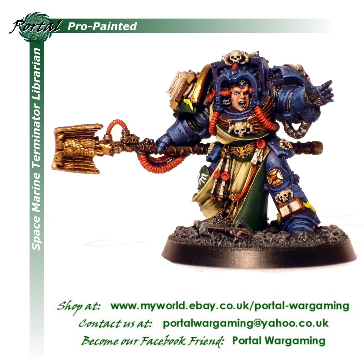 Librarian, Pro-painted, Space Marines, Warhammer 40,000
