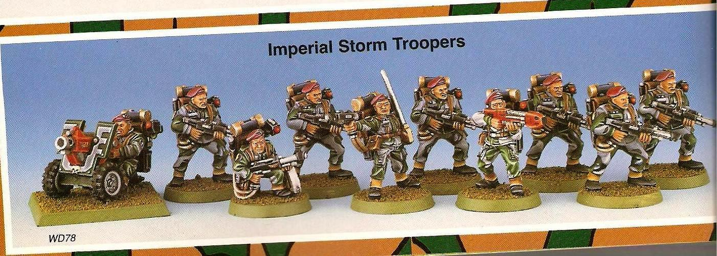 Copyright Games Workshop, Imperial Guard, Retro Review, Storm Troopers, White Dwarf