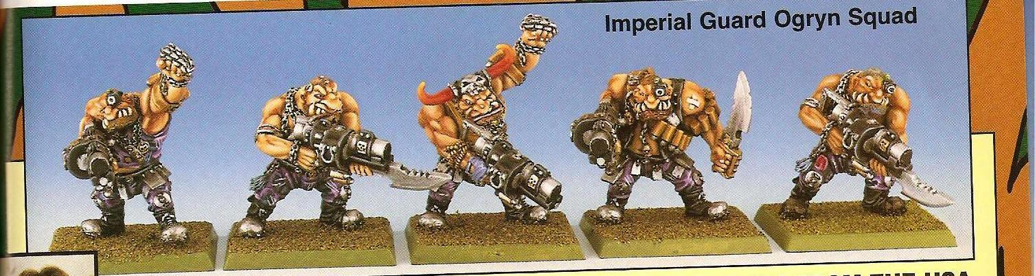 Copyright Games Workshop, Imperial Guard, Ogryns, Retro Review, White Dwarf