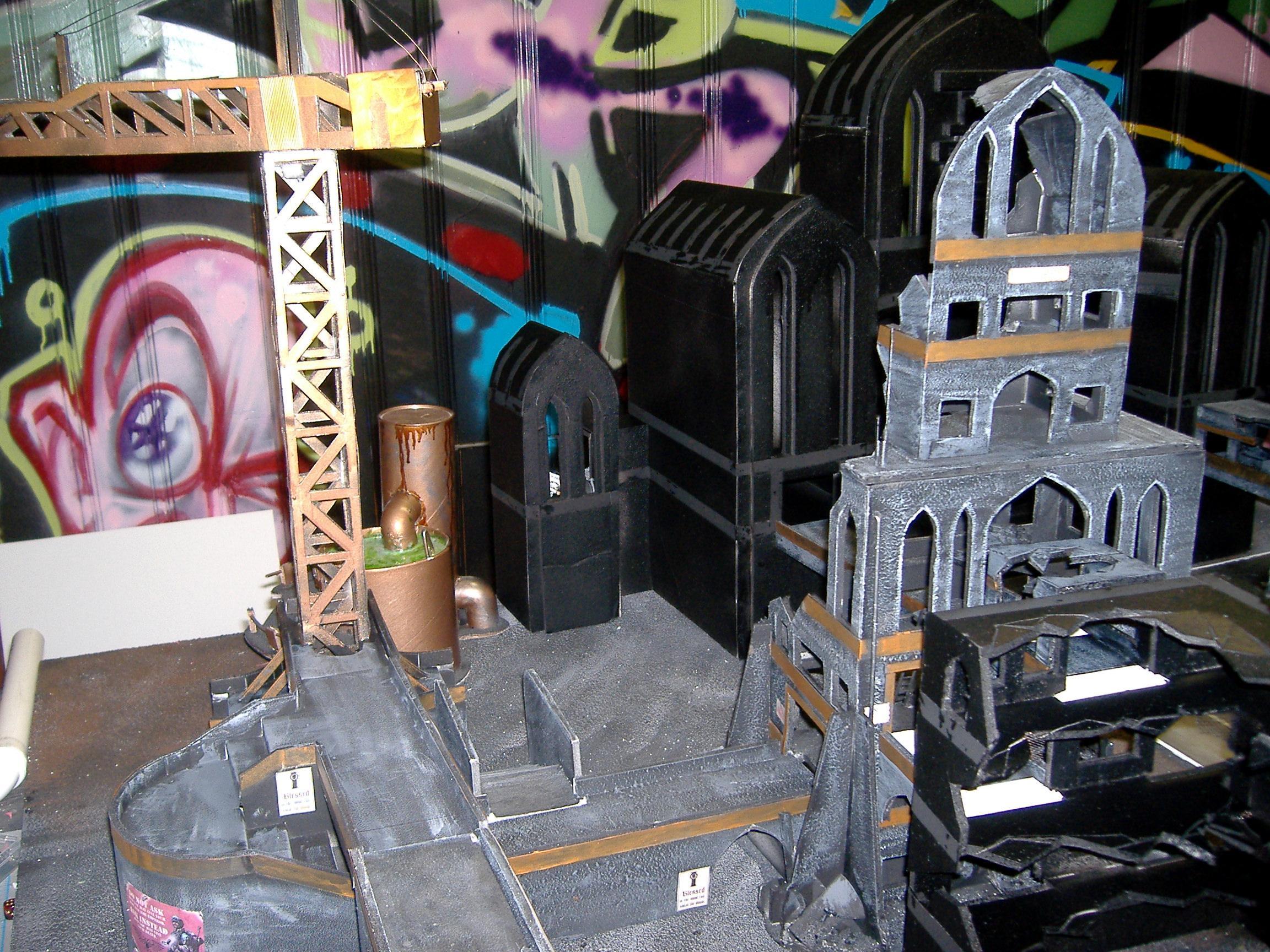 Cities Of Death, Ruins, Terrain, Work In Progress