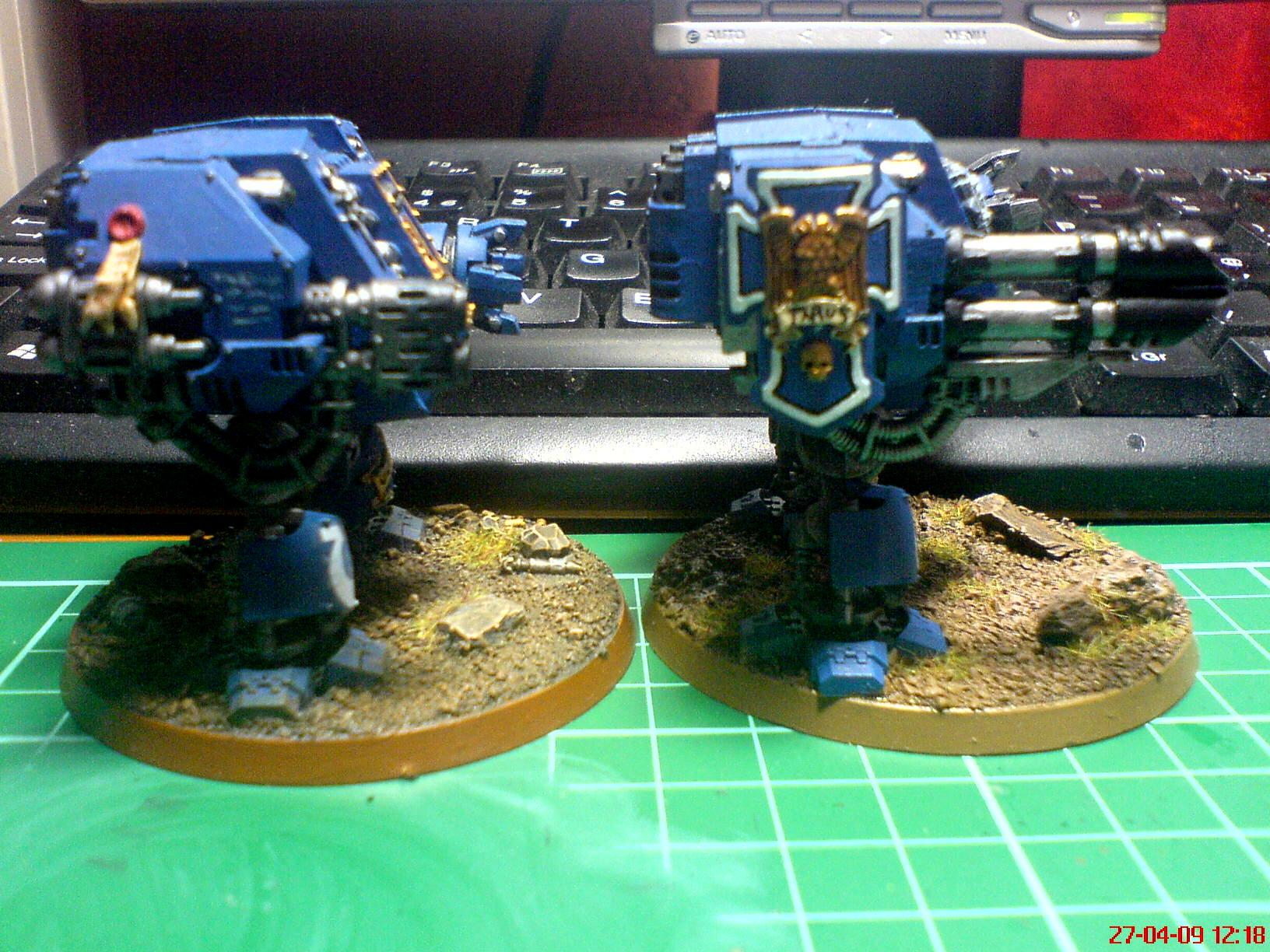 Dreadnought, Space Marines, Ultramarines, Warhammer 40,000
