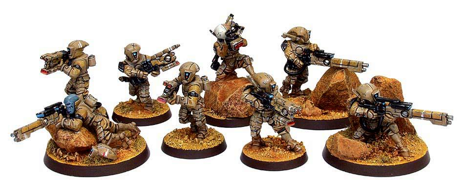 Games Workshop, Infantry, Pathfinders, Science-fiction, Tau, Warhammer 40,000