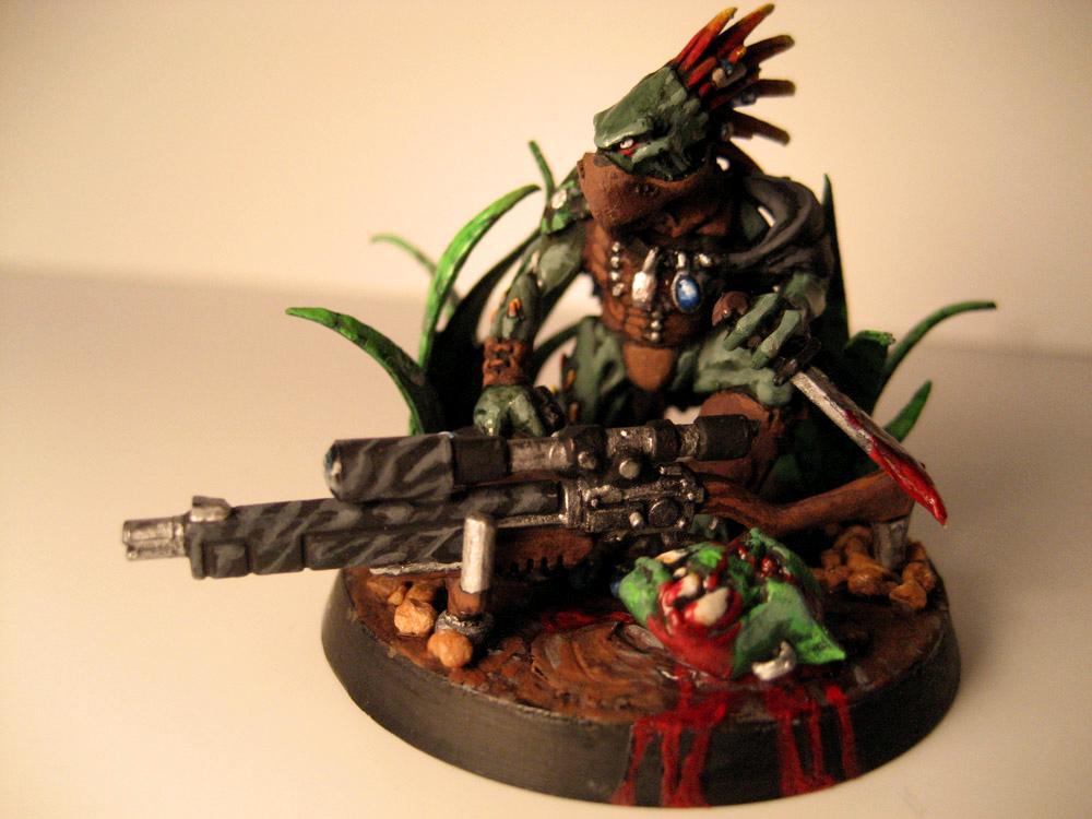 Diorama., Kroot, Ork Abuse, Orks, Snipers