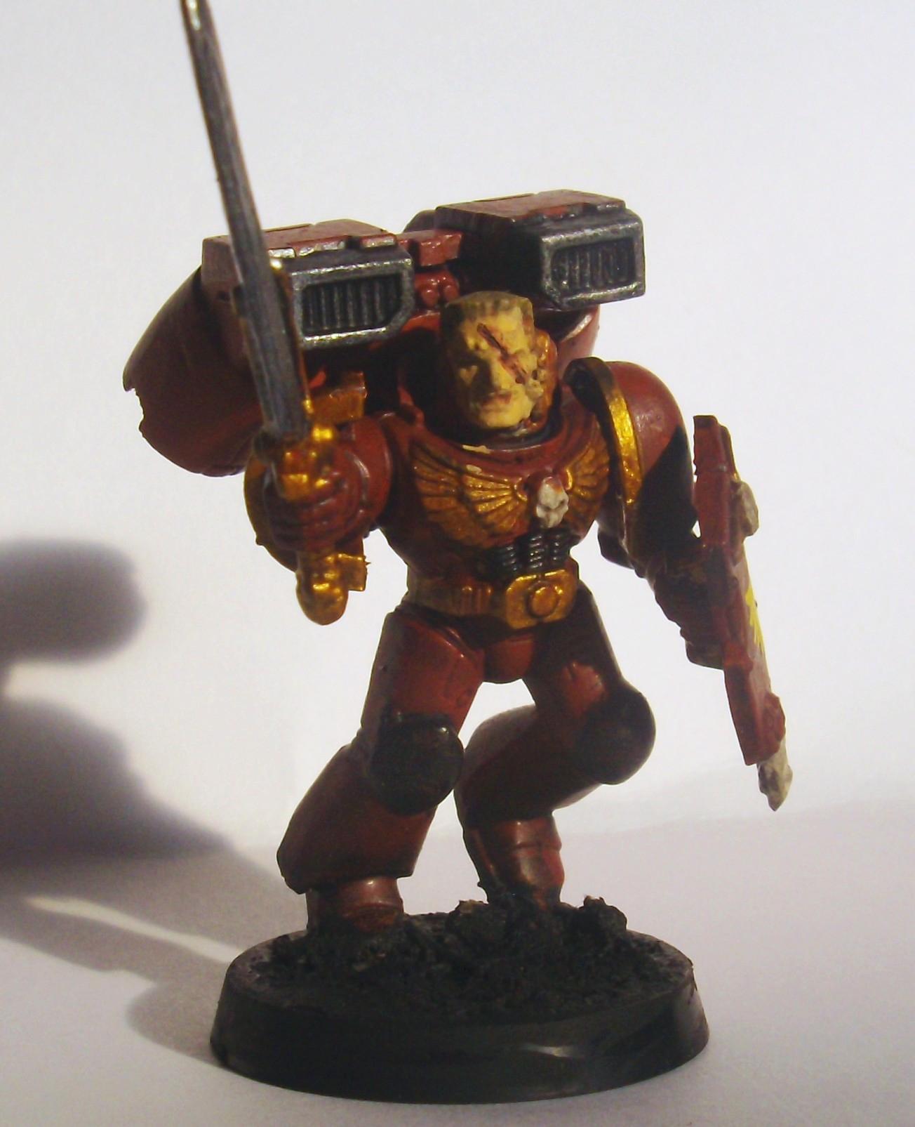 Assault Squad Sergeant, Space Marines, Work In Progress