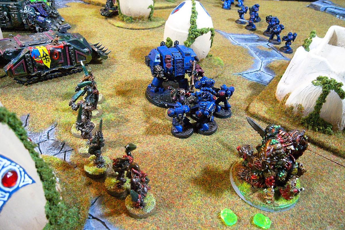 Battle Report, Crimson Fists, Eldar Terrain, Nurgle