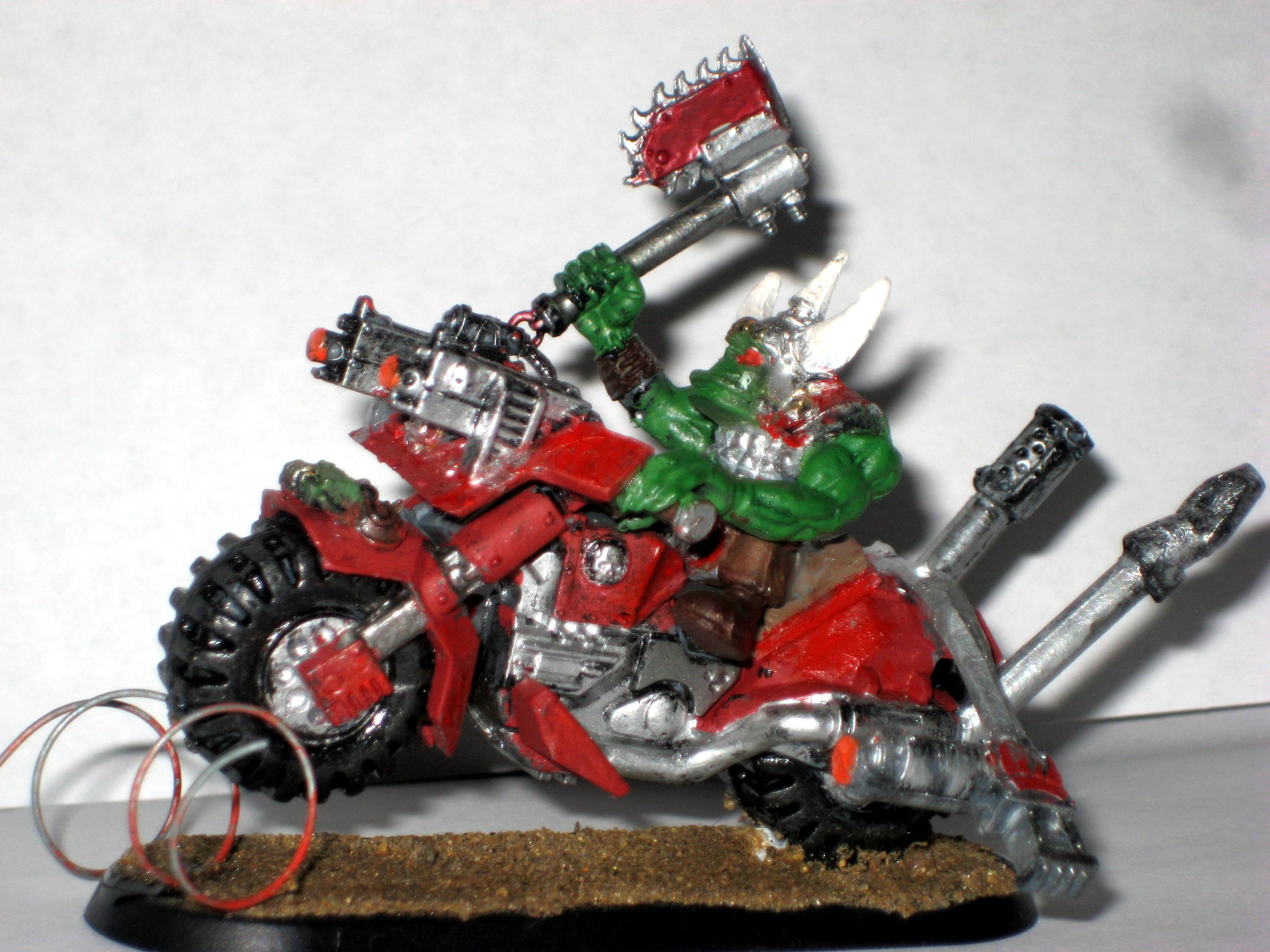 finished ork warbike conversion