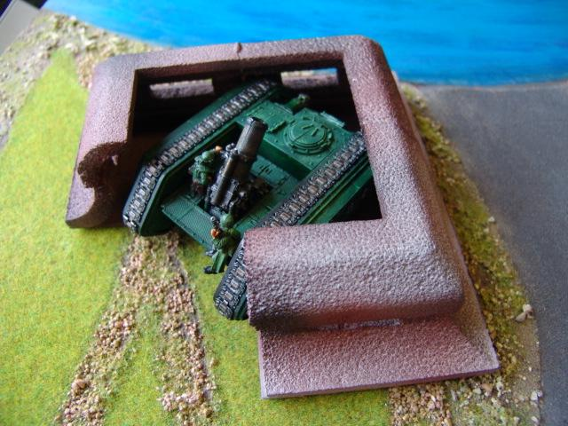 Bunkers, Gun Emplacement, Modelling, Terrain, Warhammer 40,000