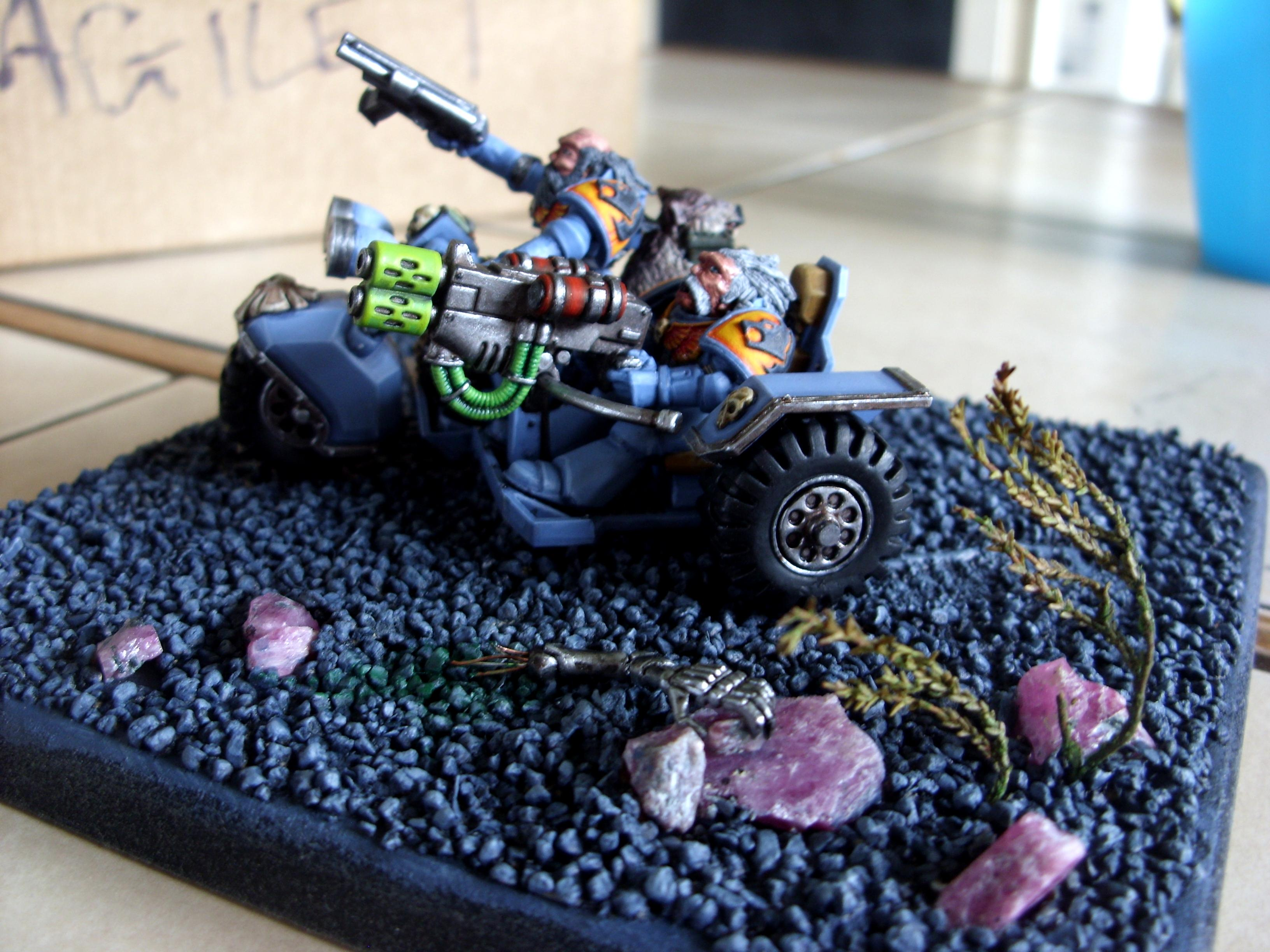 Bike, Conversion, Greenstuff, Space Marines, Space Wolves, Warhammer 40,000