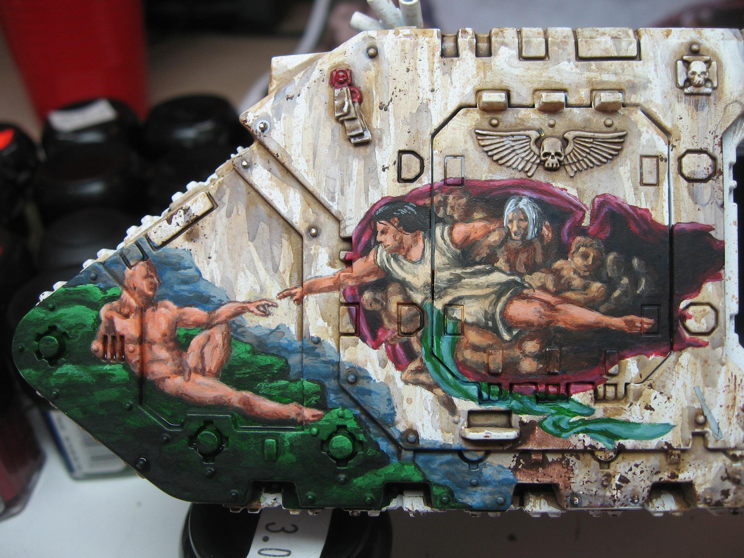 Artwork, Freehand, Land Raider, Space Marines, Warhammer 40,000