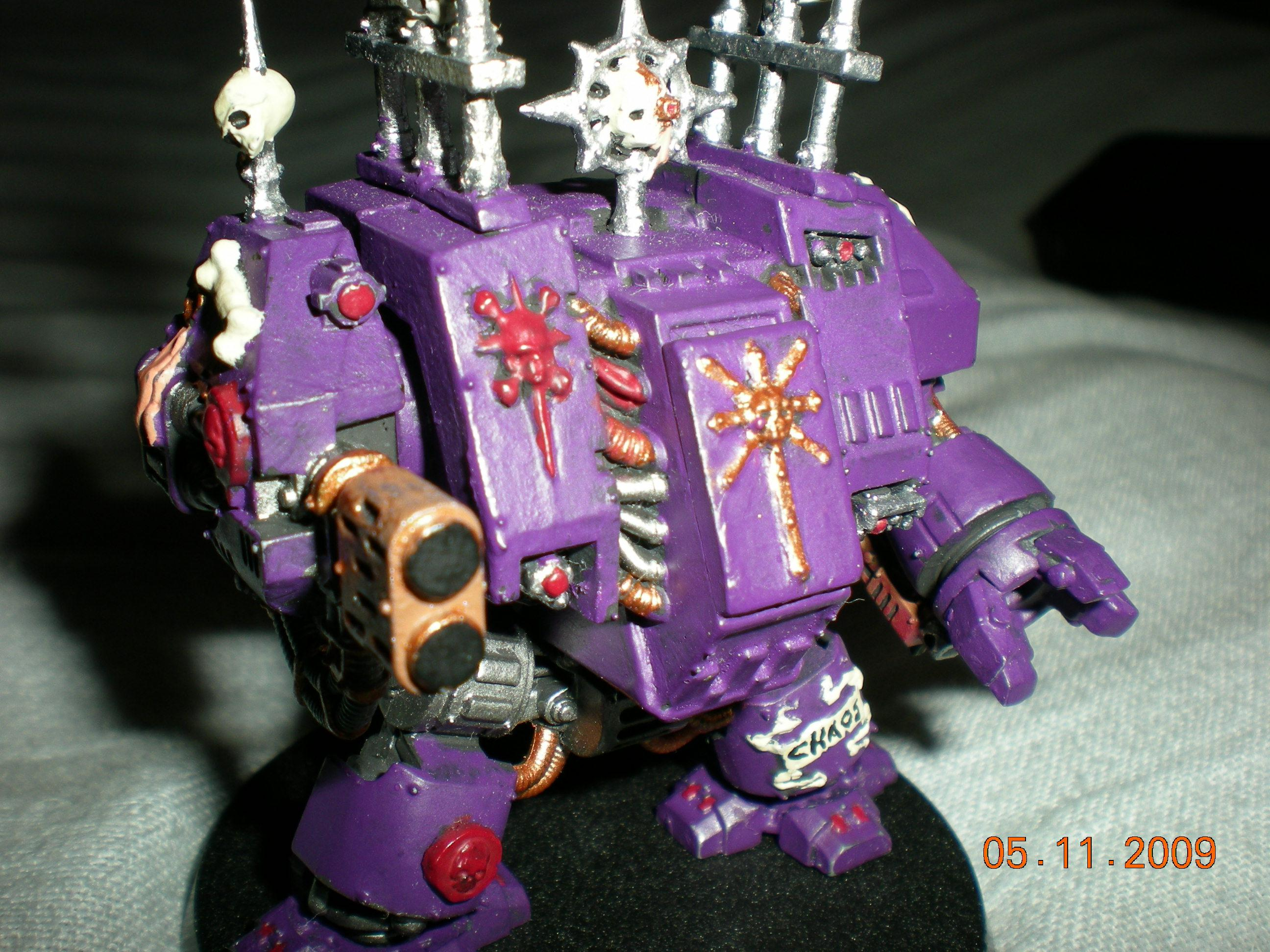 Assault On Black Reach, Chaos, Chaos Dreadnought, Conversion, Dreadnoght, Purple