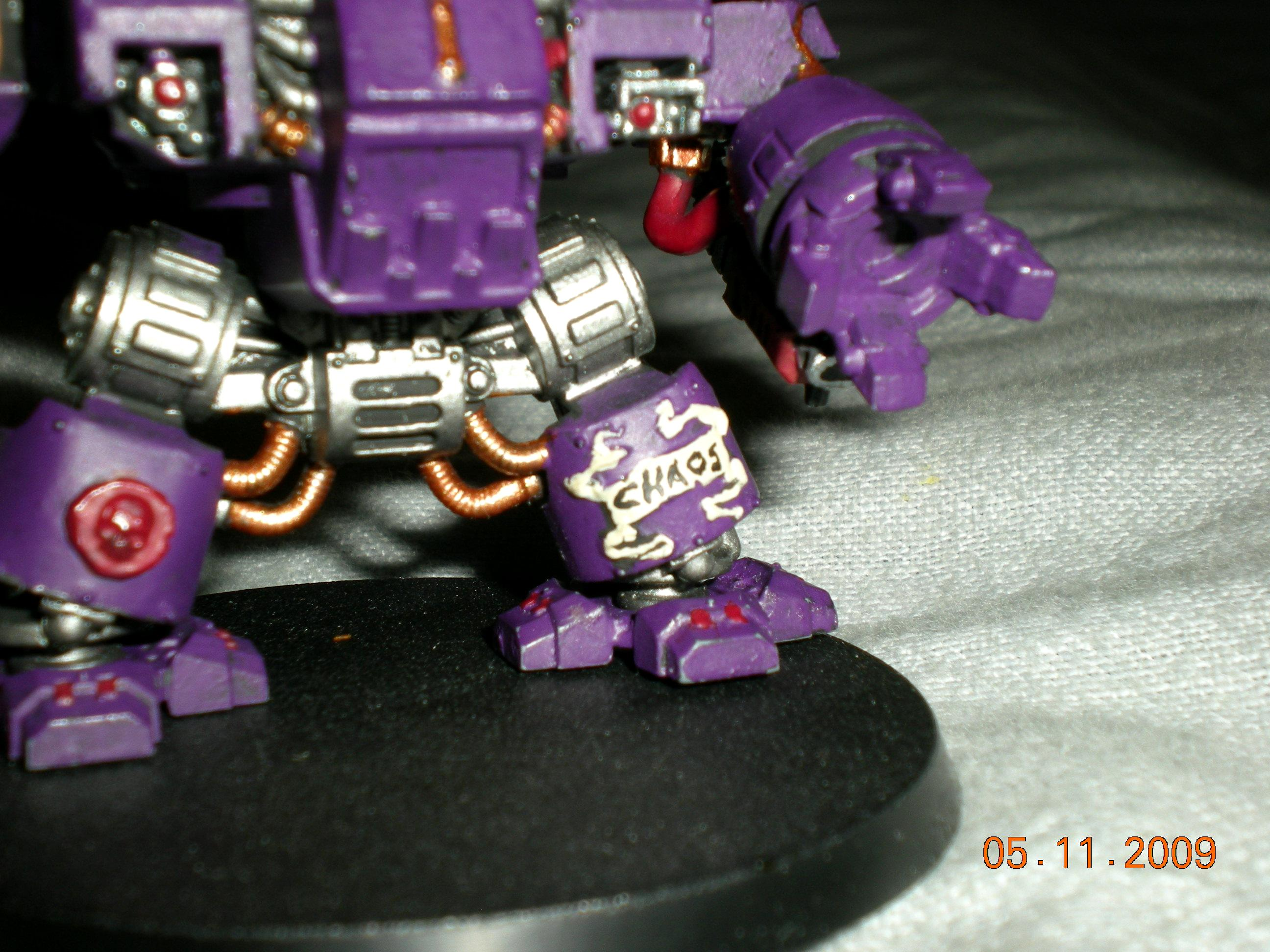 Assault On Black Reach, Chaos, Chaos Dreadnought, Conversion, Dreadnoght, Purple