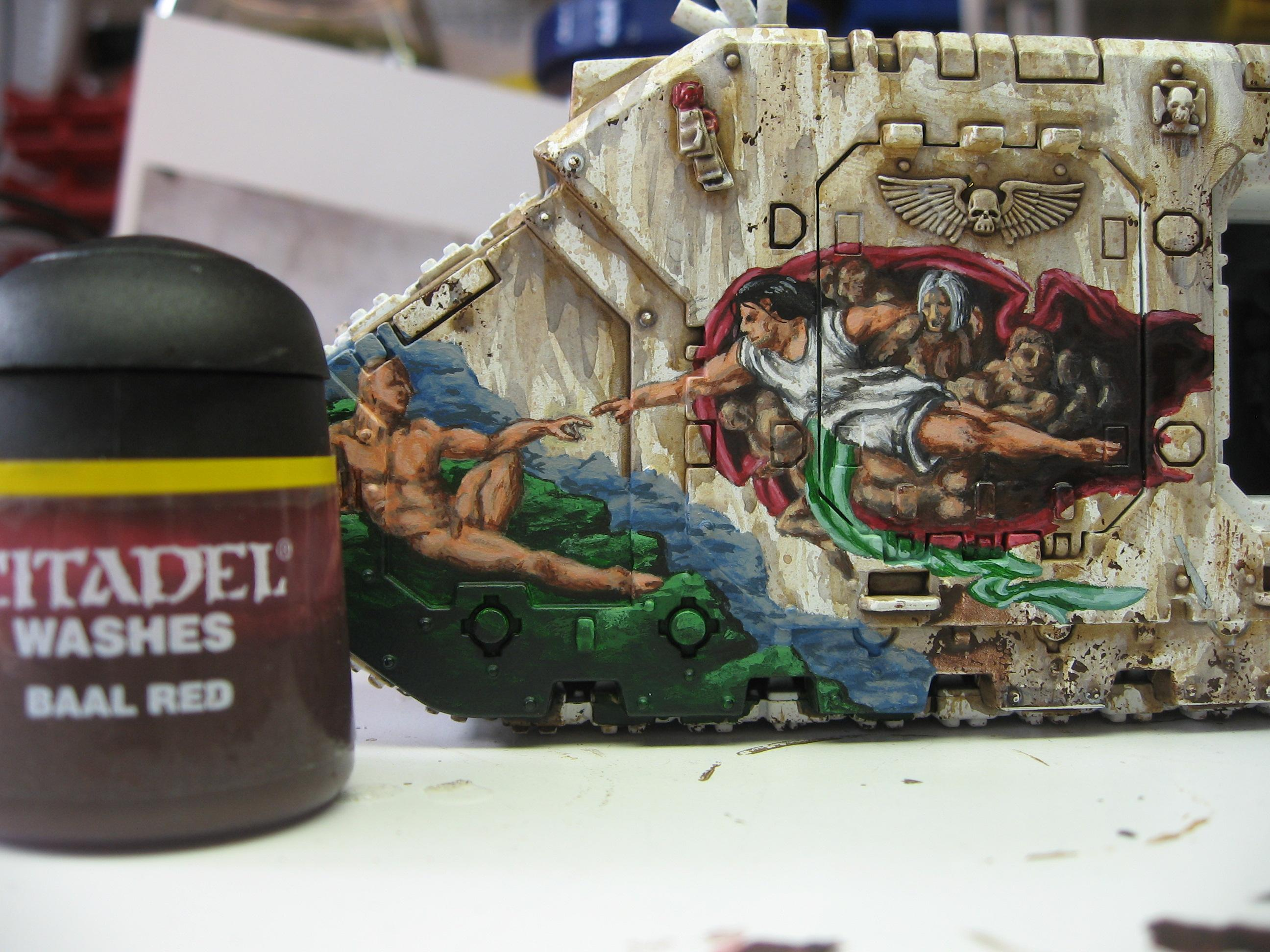 Freehand, Imperial Artwork, Space Marine Land Raider, Warhammer 40,000