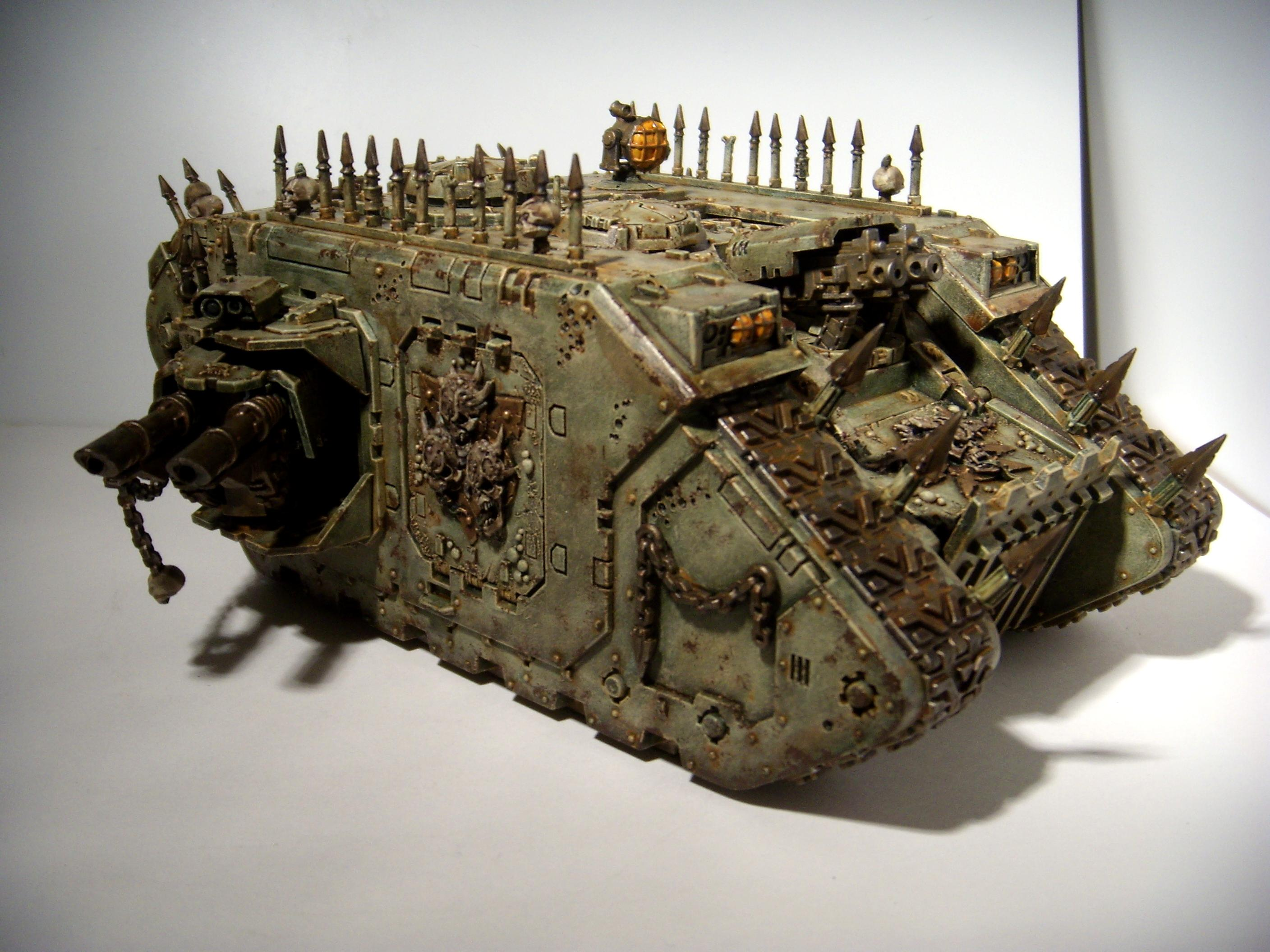 Chaos, Chaos Space Marines, Death Guard, Land Raider, Nurgle, Tank, Vehicle, Warhammer 40,000