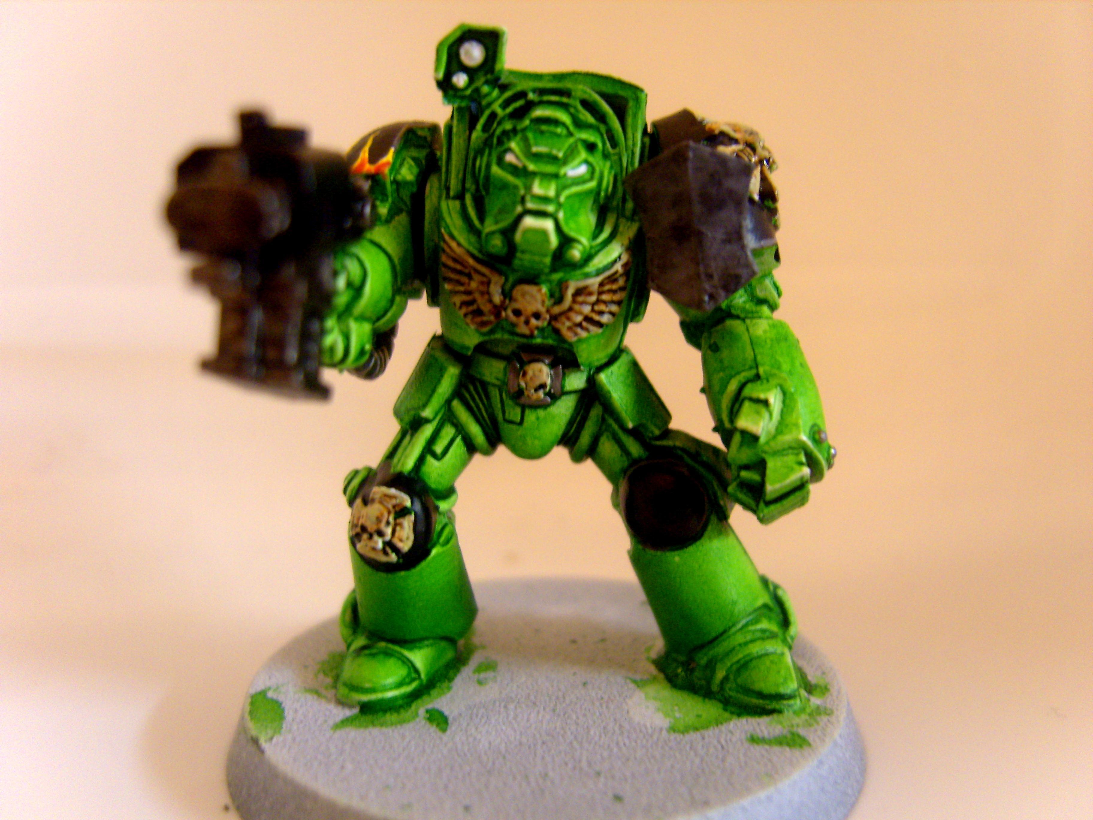 Salamanders, Space Marines, Terminator Armor, Test Model