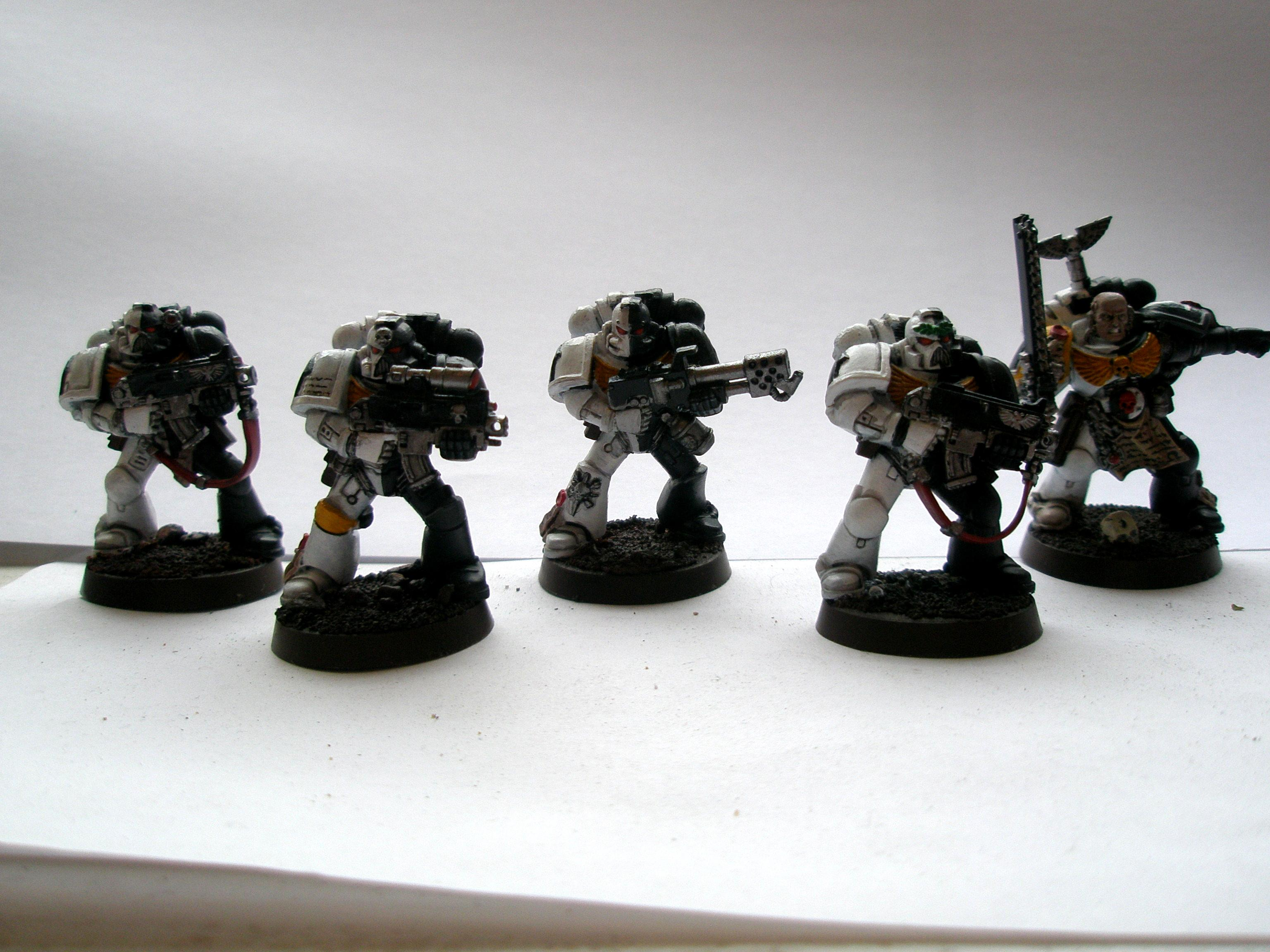 40 000, Black, Omega, Space, Space Marines, Warhammer 40,000, White