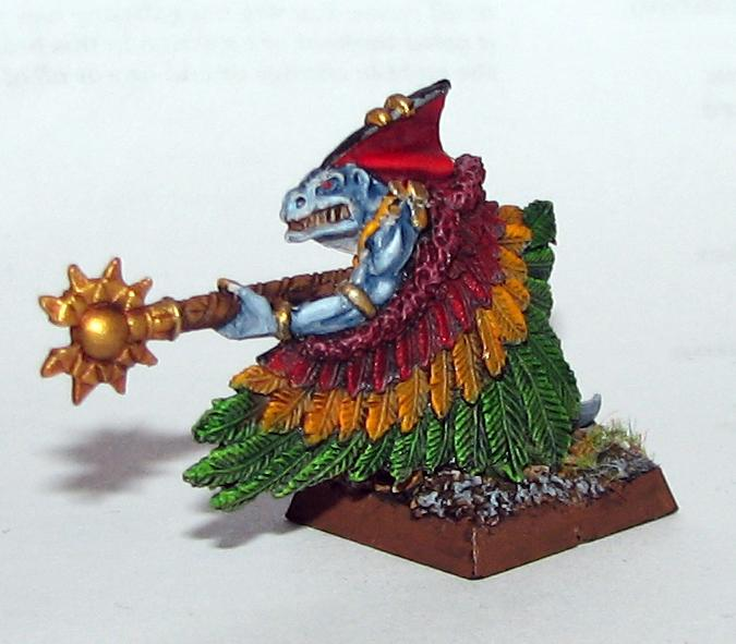 Cloak, Feathers, Lizardmen, Of, Priest, Skinks, Staff