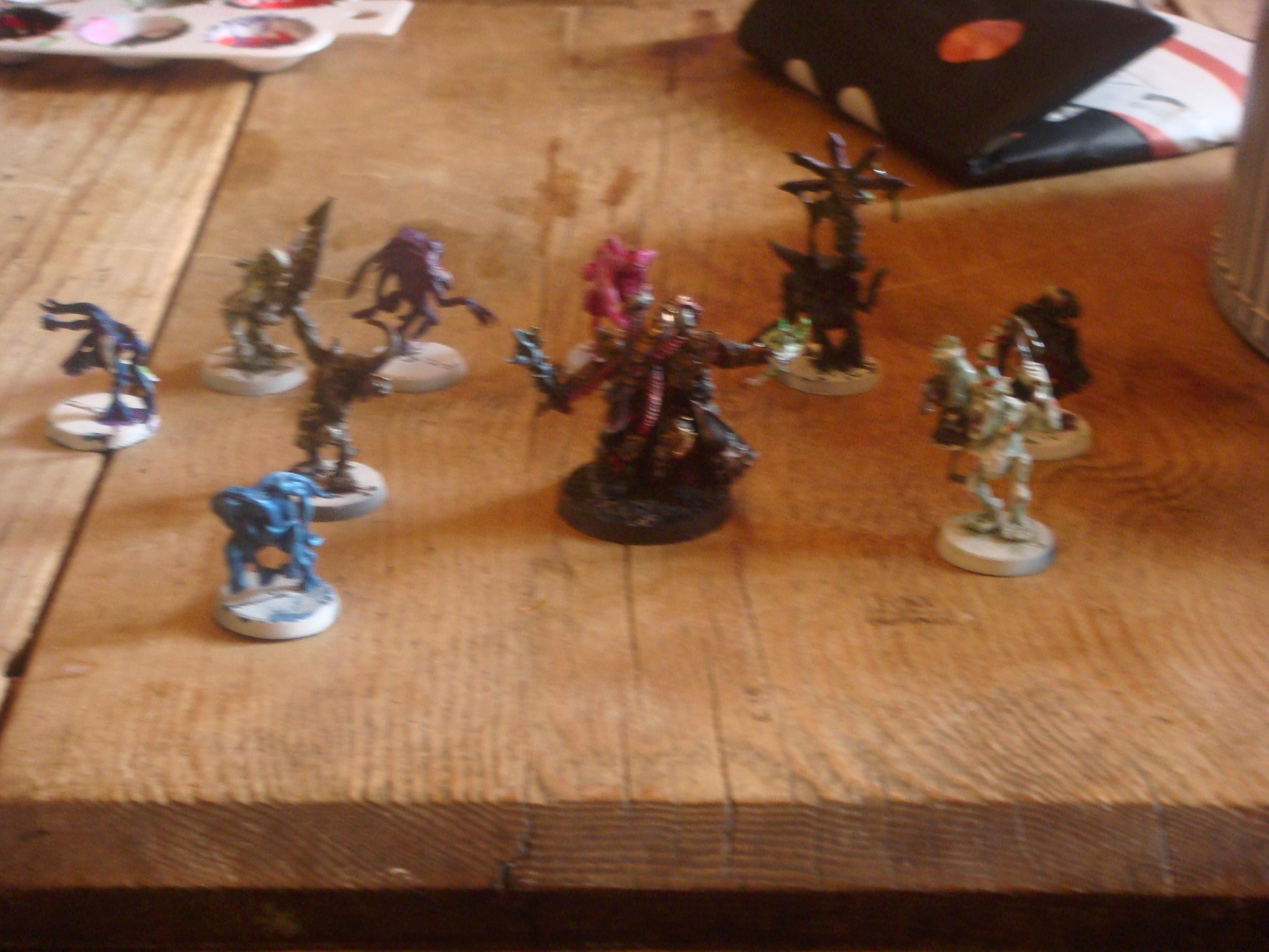 Most of my painted Daemons
