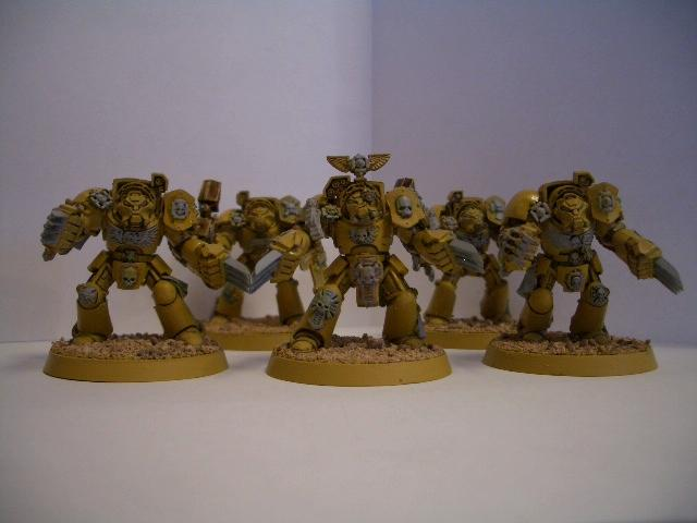 Imperial Fists, Space Marines, Terminator Armor, Warhammer 40,000, Work In Progress, Yellow Space Marines