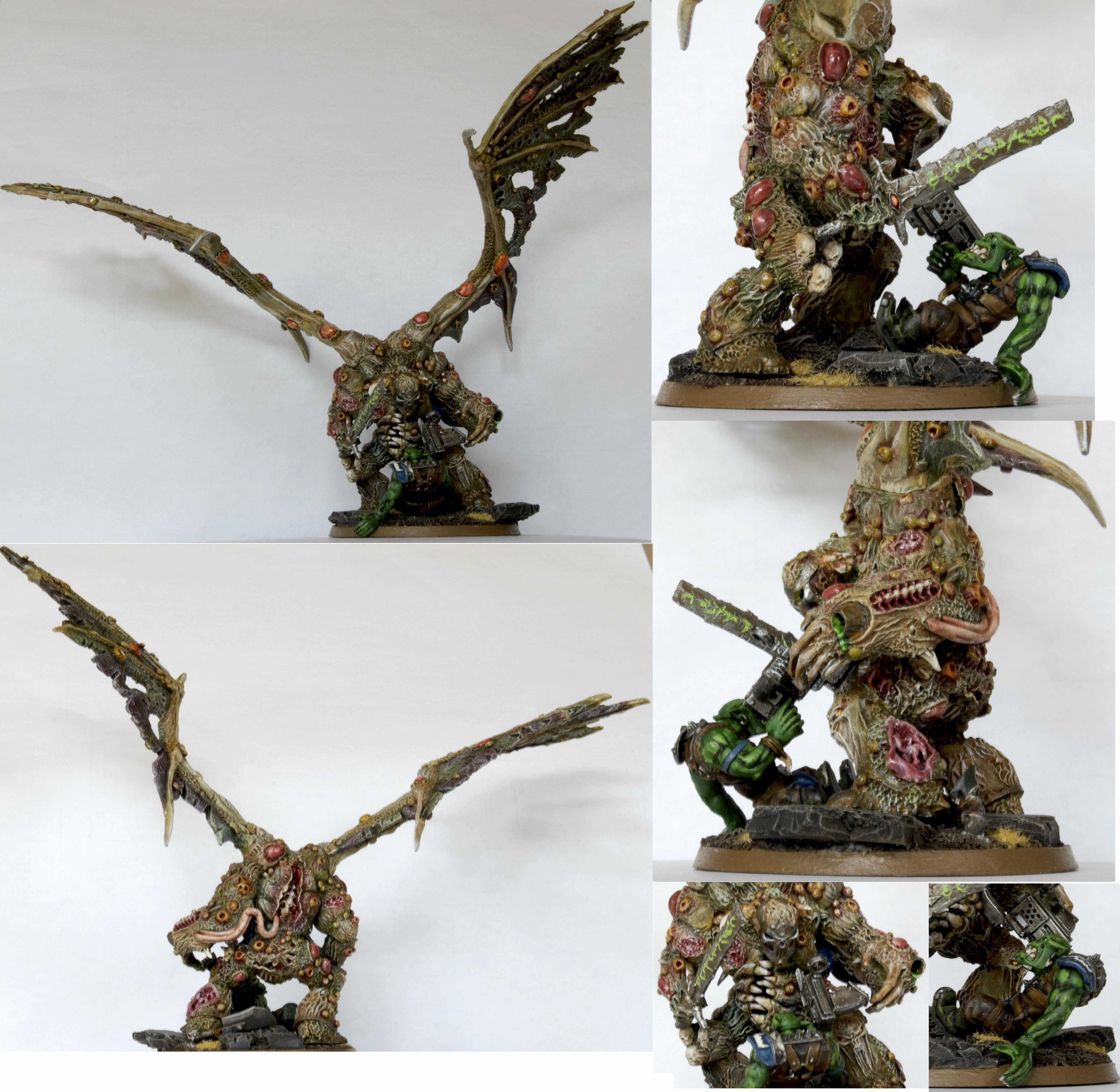 Chaos, Chaos Space Marines, Conversion, Daemon Prince, Daemon Prince. Death Guard, Daemons, Death Guard, Duel, Nurgle, Plague Marines, Prince, Winged