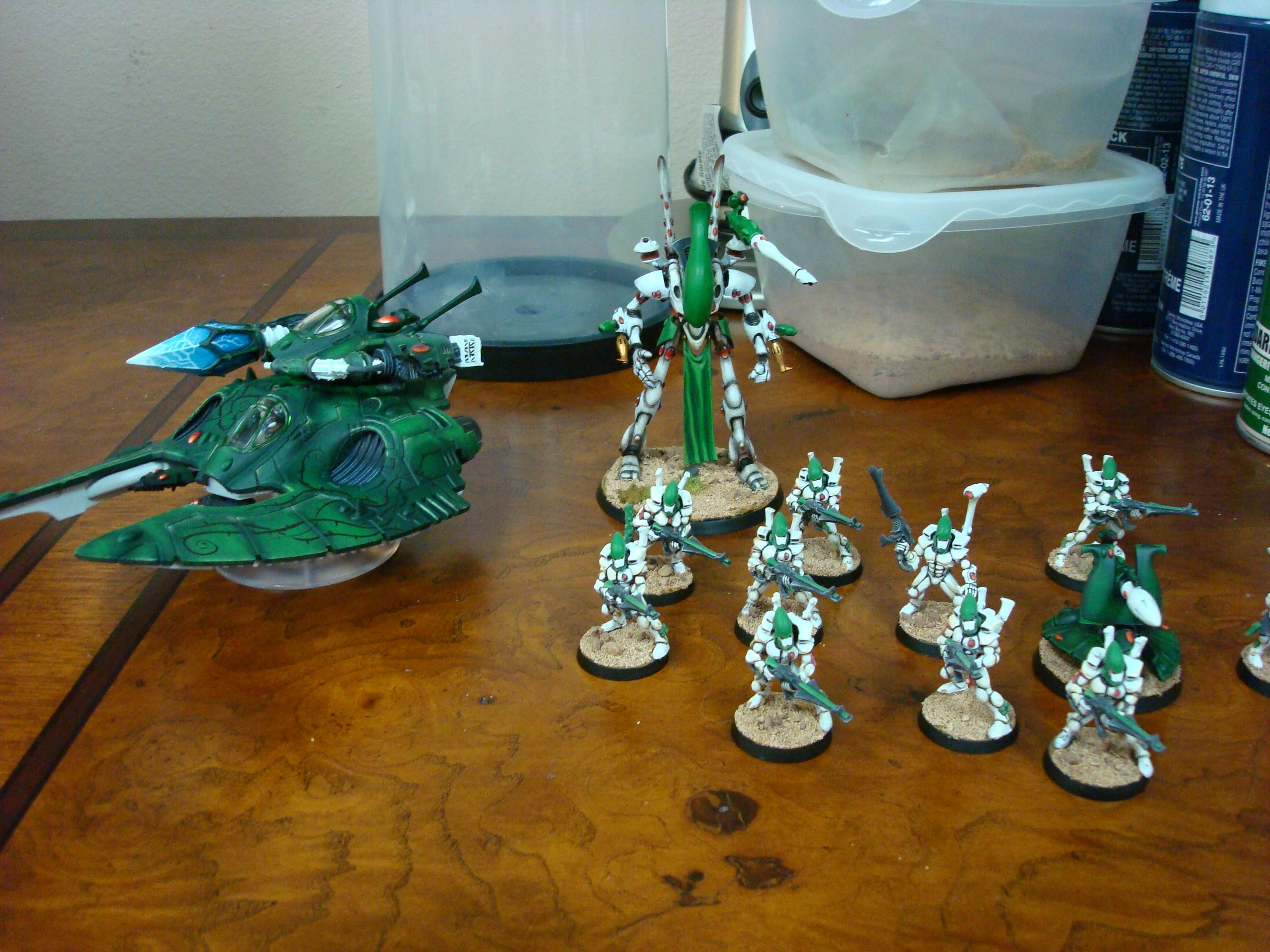 Army, Biel-tan, Eldar, Eldar Missile Launcher, Fire Prism, Guardians, Warhammer 40,000, Wraithlord